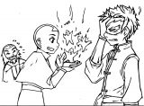 Avatar Teaching Aang Sora Ko Avatar Aang Coloring Page