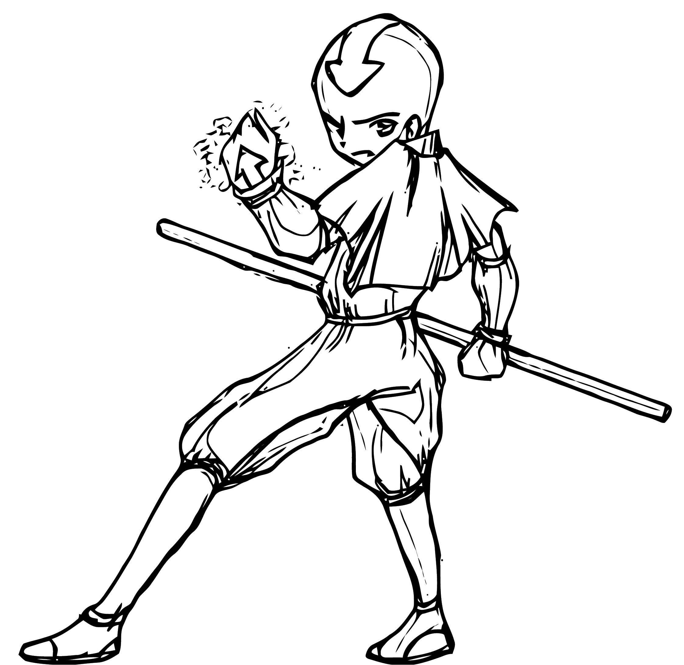 Avatar Aang Coloring Page: Avatar The Last Airbender Aang Candygirlxd Avatar Aang