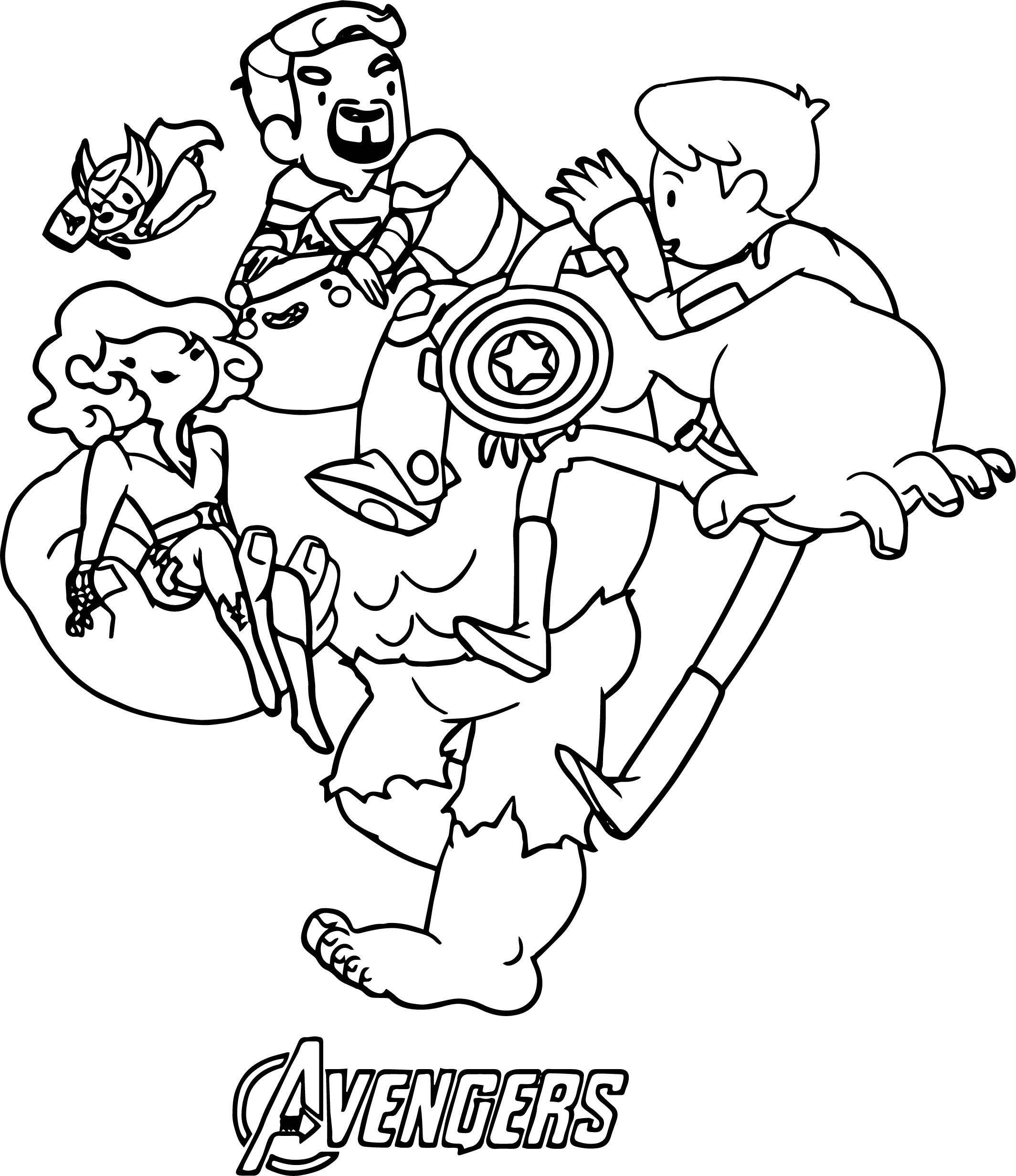 Avengers Coloring Page 06