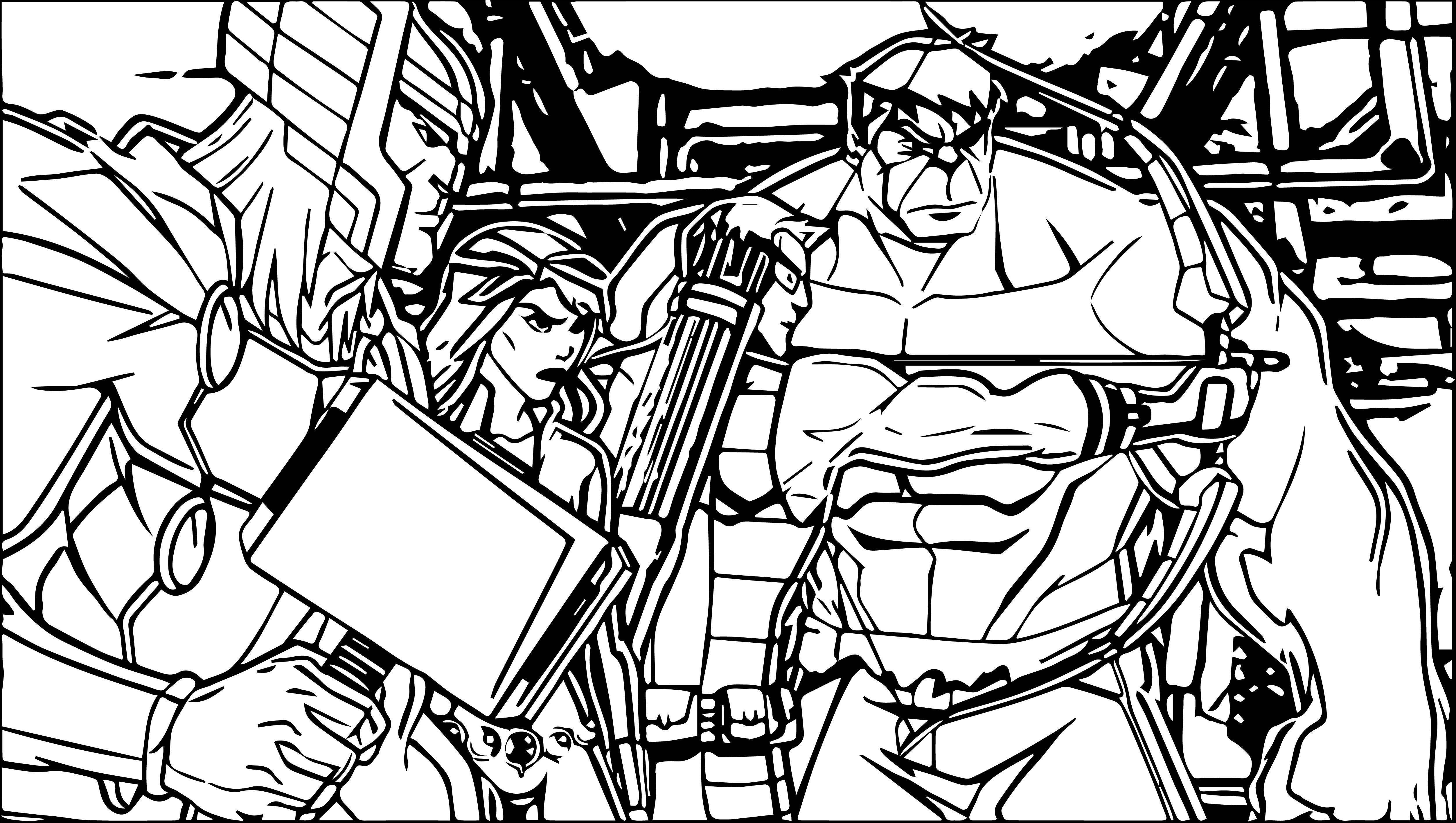 Avengers Coloring Page 08