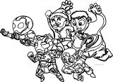 Avengers Team Attack Coloring Page