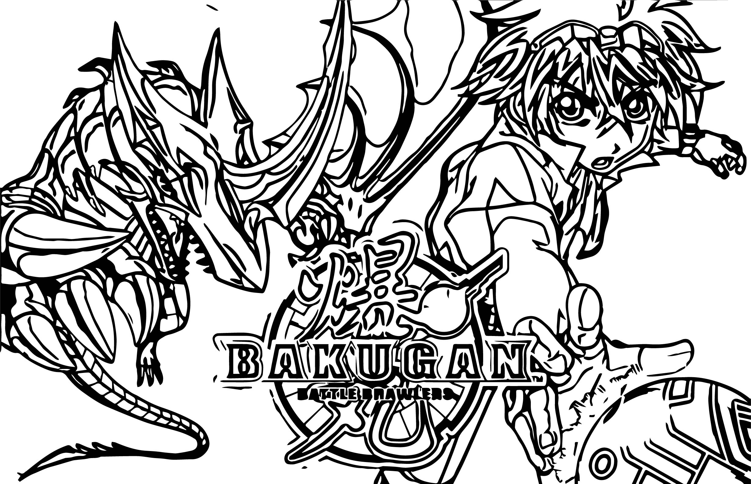 bakugan battle brawlers coloring pages - photo#12