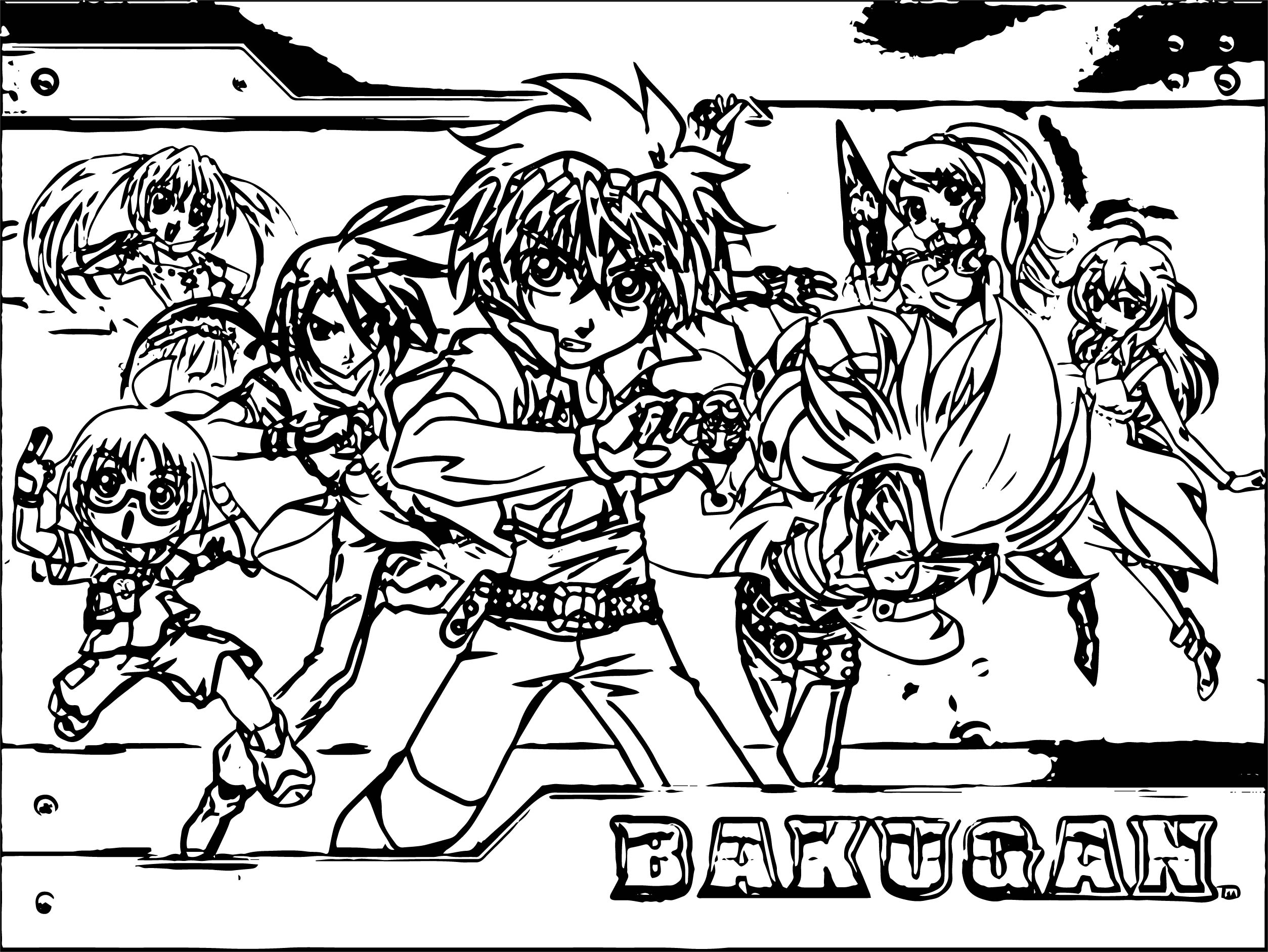 Bakugan Battle Brawlers Coloring Page 01