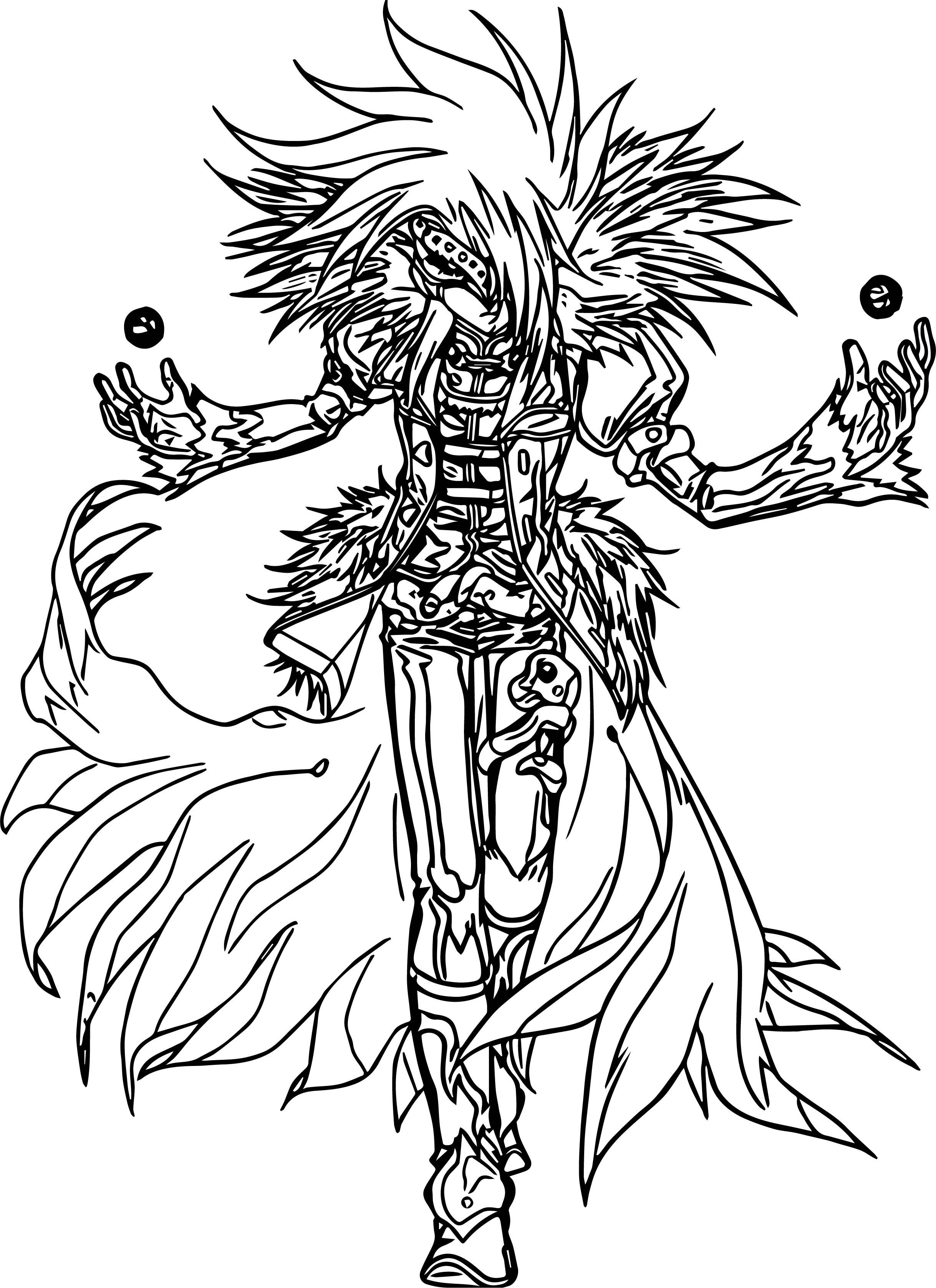 Bakugan Characters 9 Coloring Page