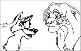 Balto Meets Simba Coloring Page