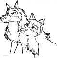 Balto Siblings Doodle Wolf Coloring Page