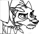 Balto Standing Up Against Steele Wolf Coloring Page