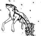 Balto Succeeds In Getting The Medicine Wolf Coloring Page