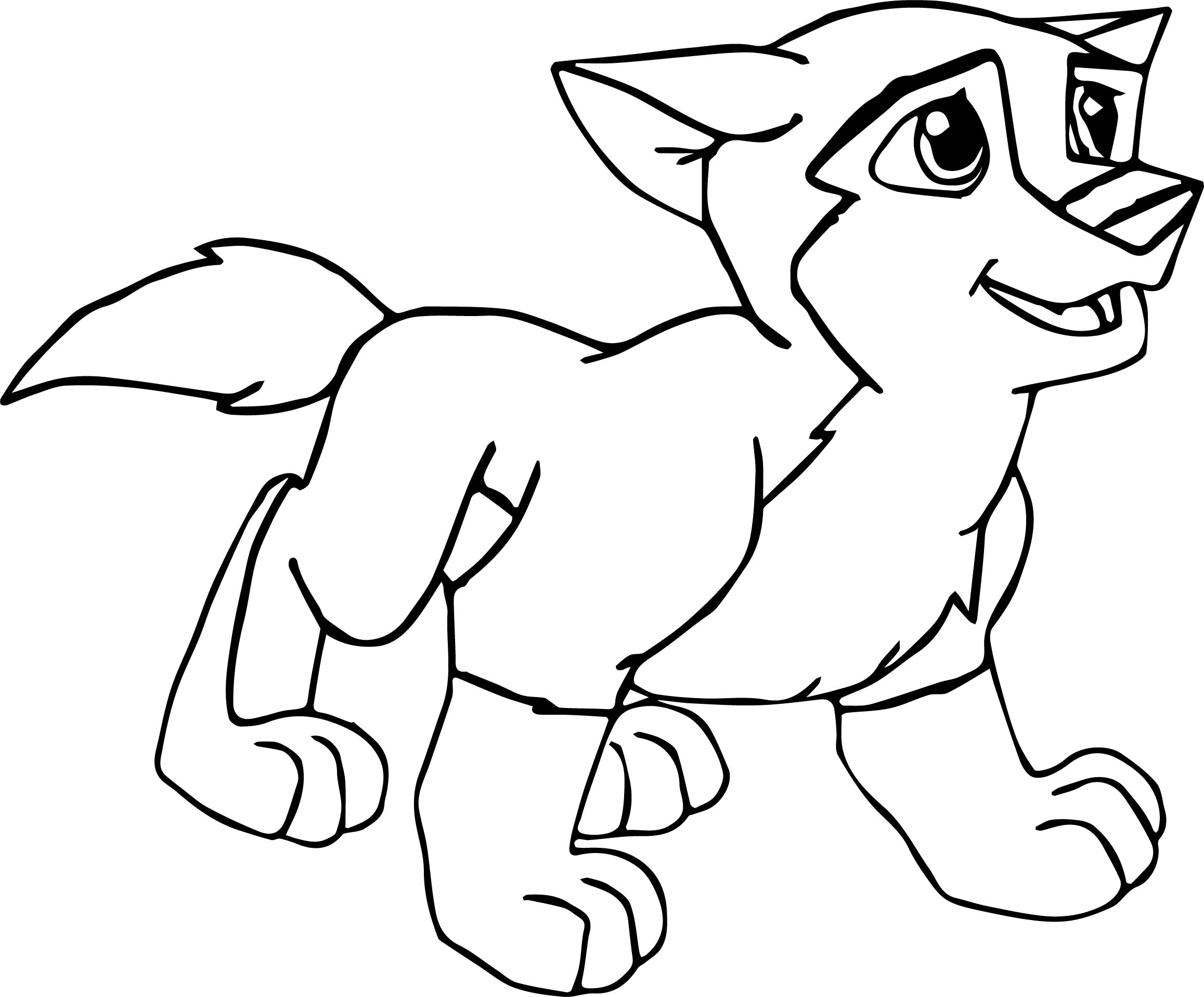 Balto Wolf Kid Walking Coloring Page