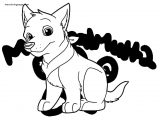 Bandit Pup Coloring Page