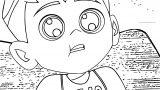 Ben 10 Ten Cute Face Coloring Page