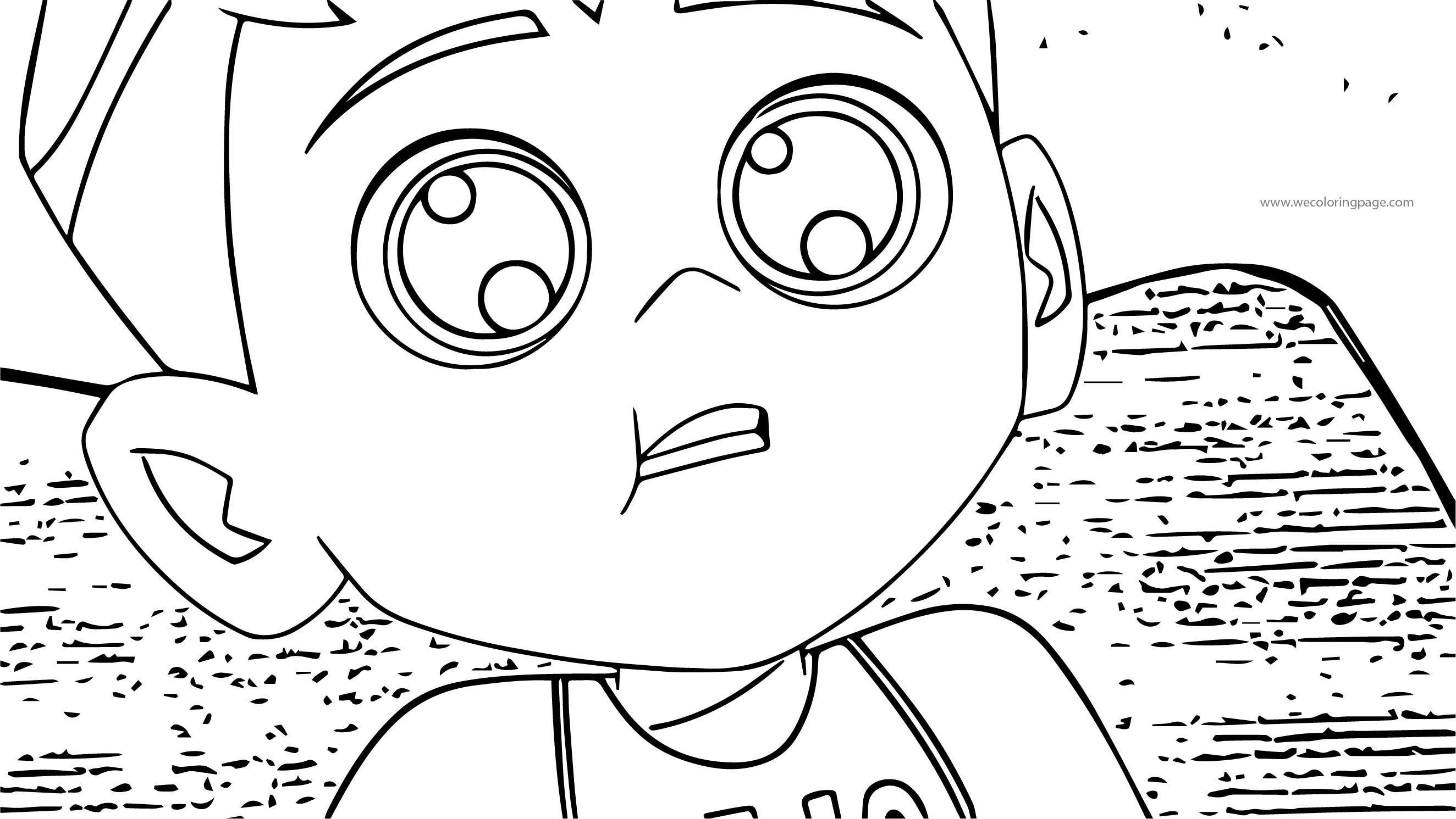 Ben 10 Ten Cute Face Coloring Page