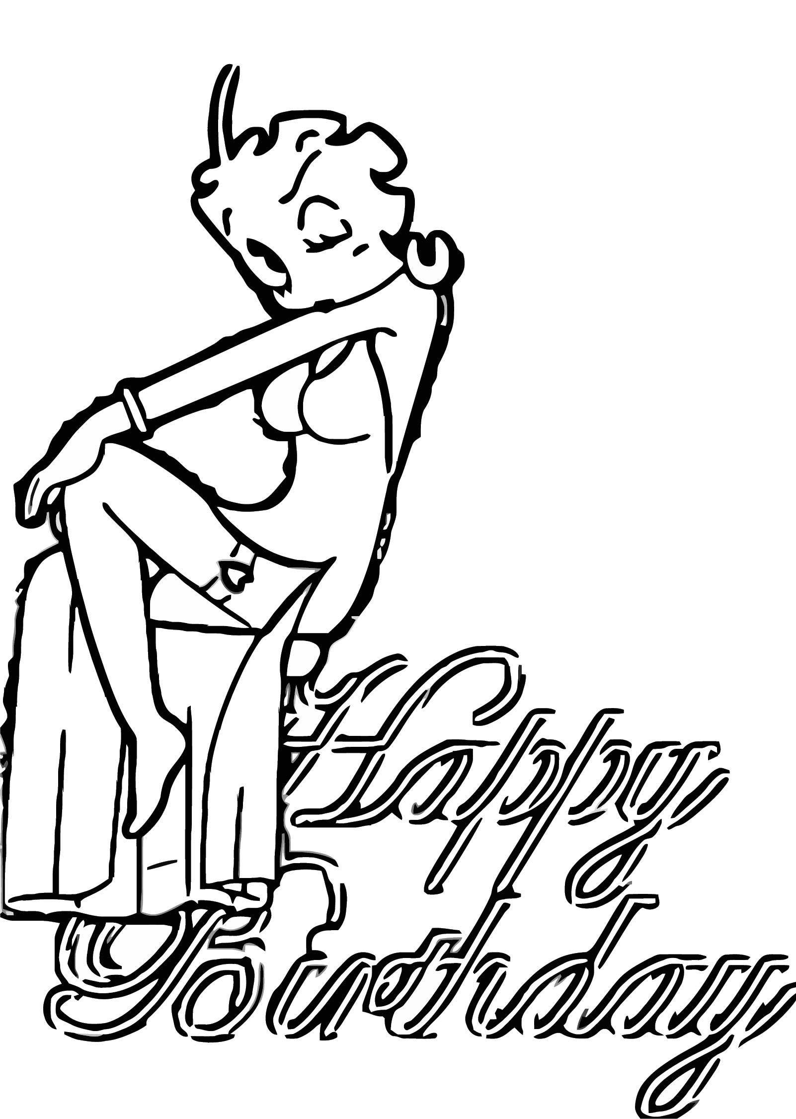 Betty Boop We Coloring Page 079