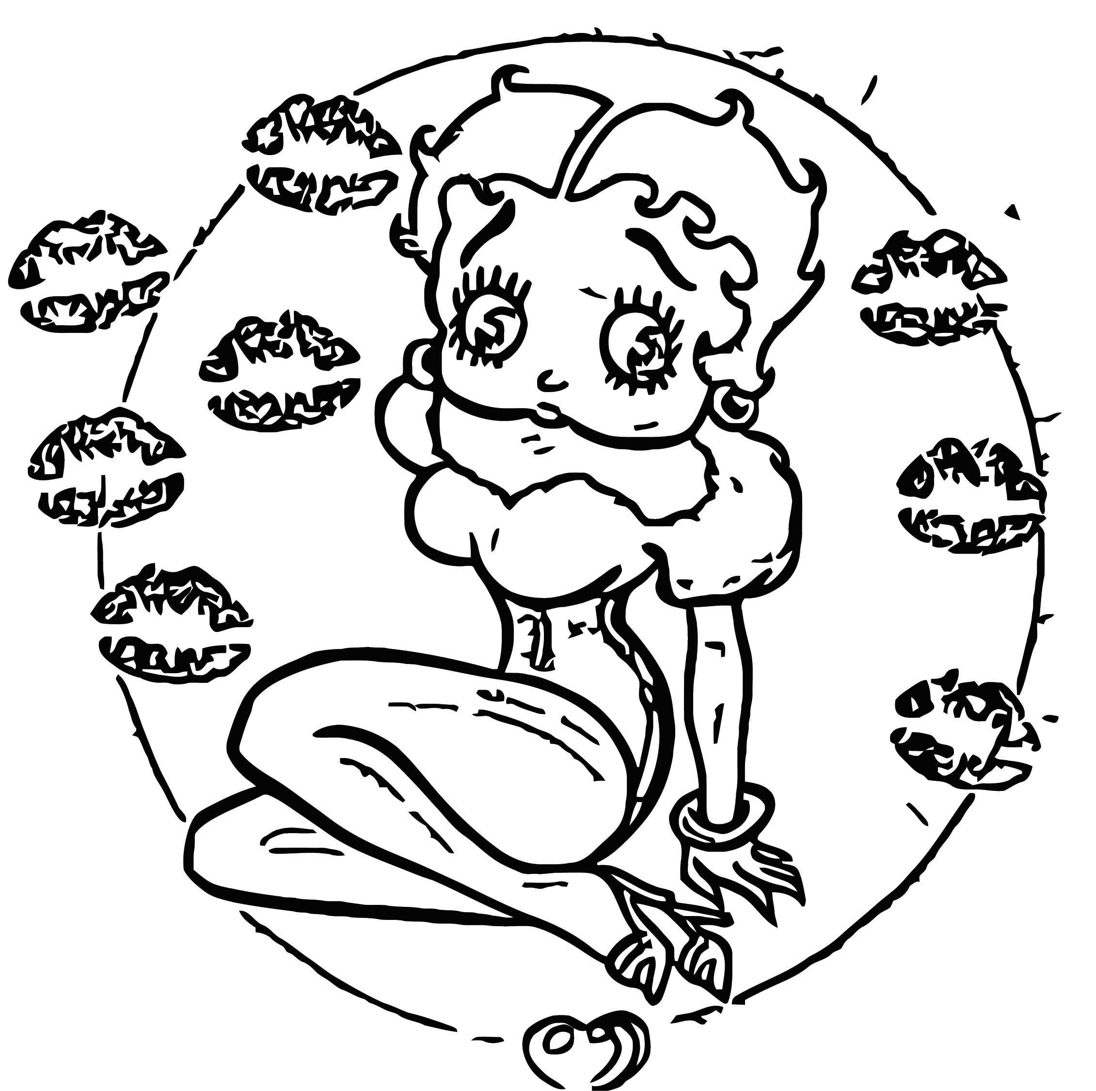 Betty Boop We Coloring Page 095