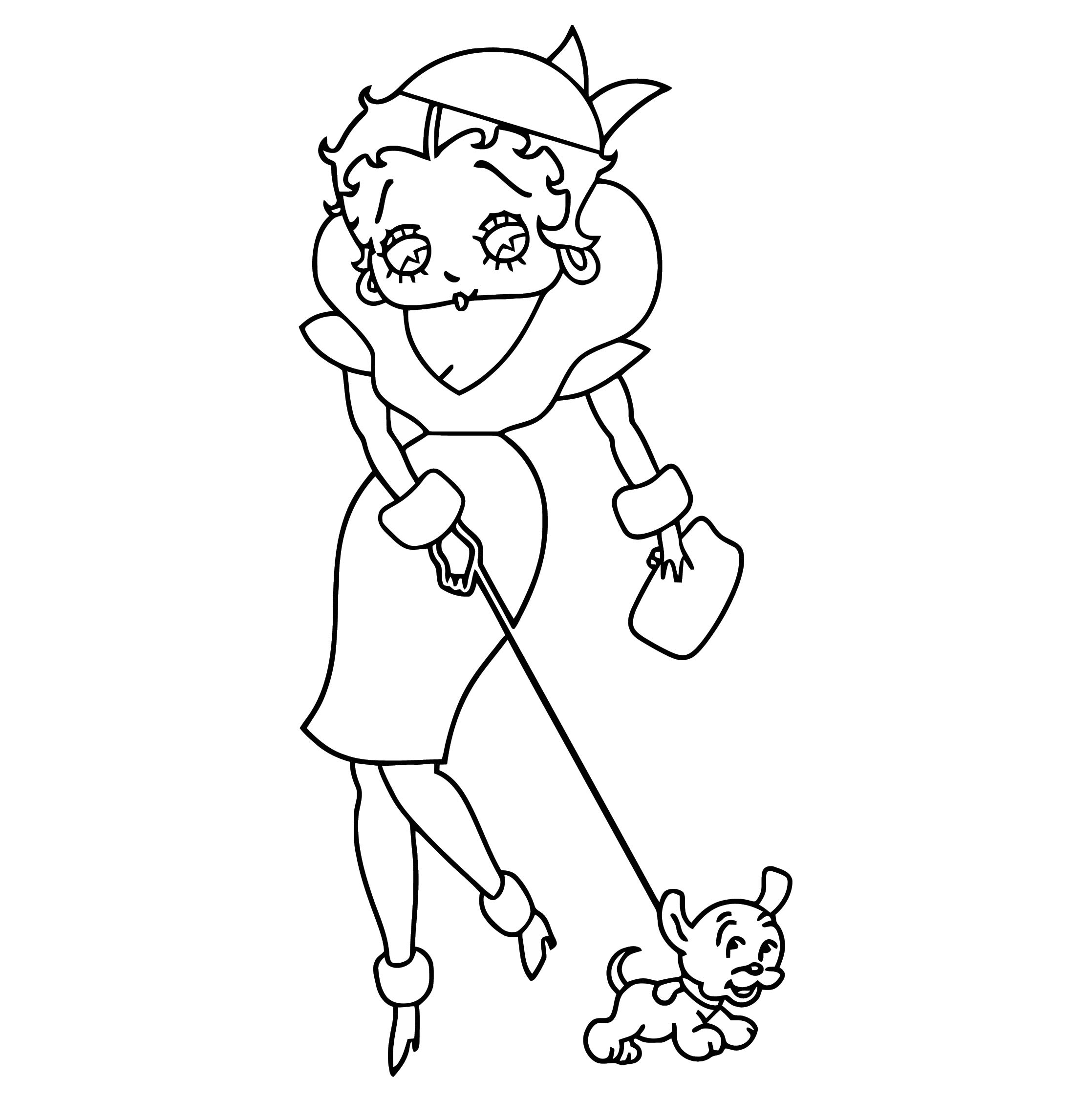 Betty Boop We Coloring Page 173