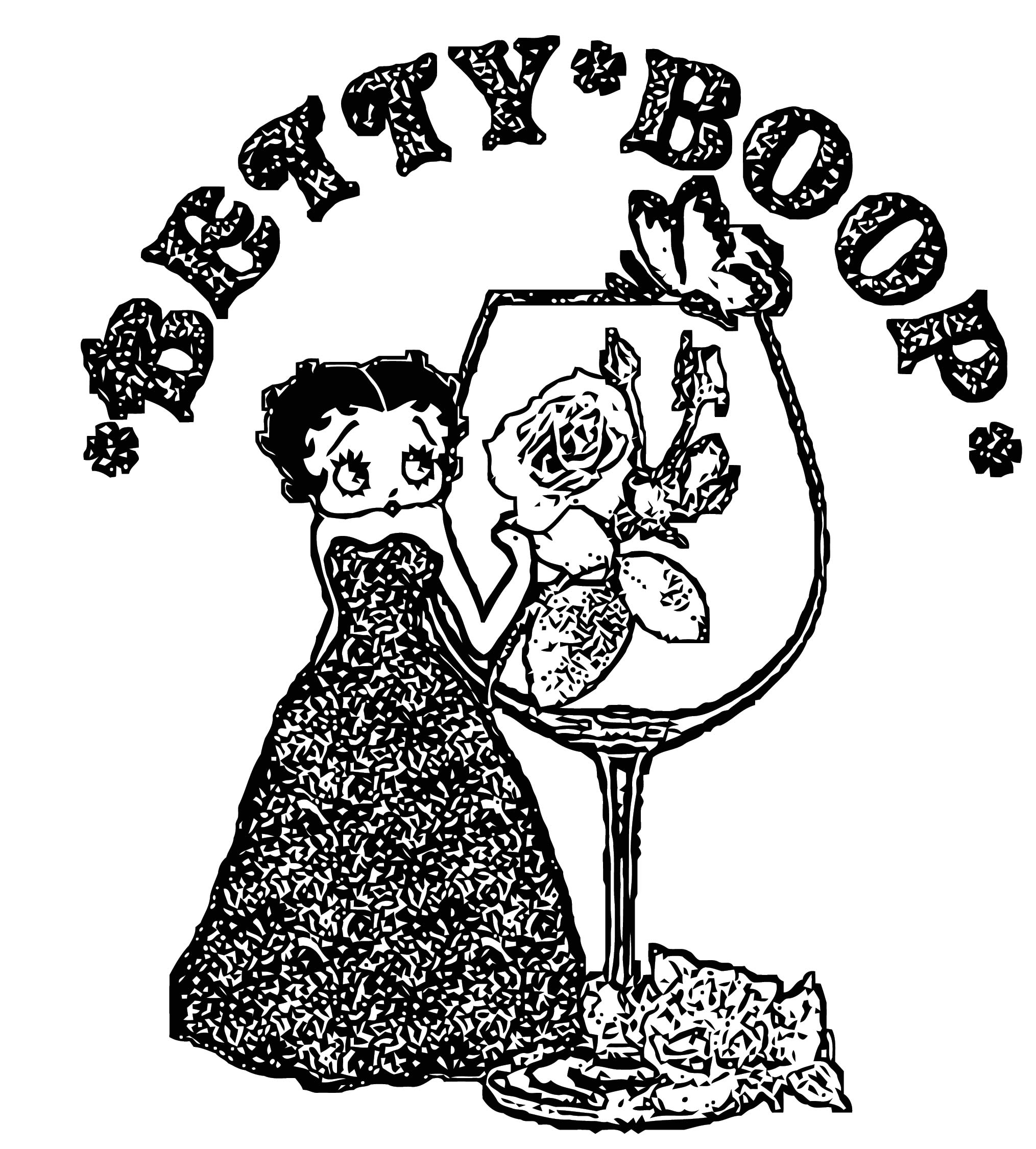 Betty Boop We Coloring Page 291