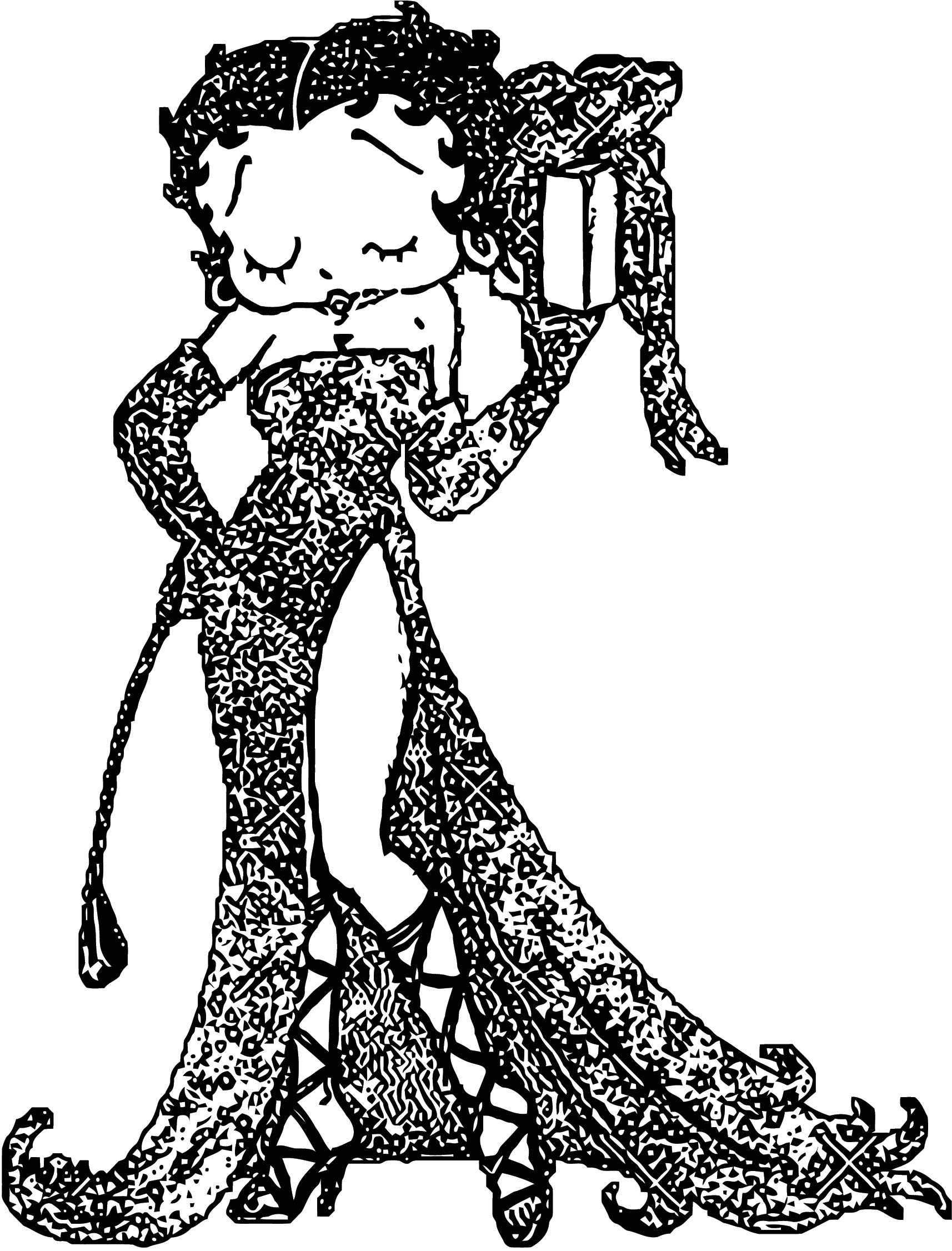Betty Boop We Coloring Page 374