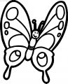 Cartoon Butterfly Clipart Coloring Page