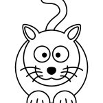 Cat Cartoon Coloring Page