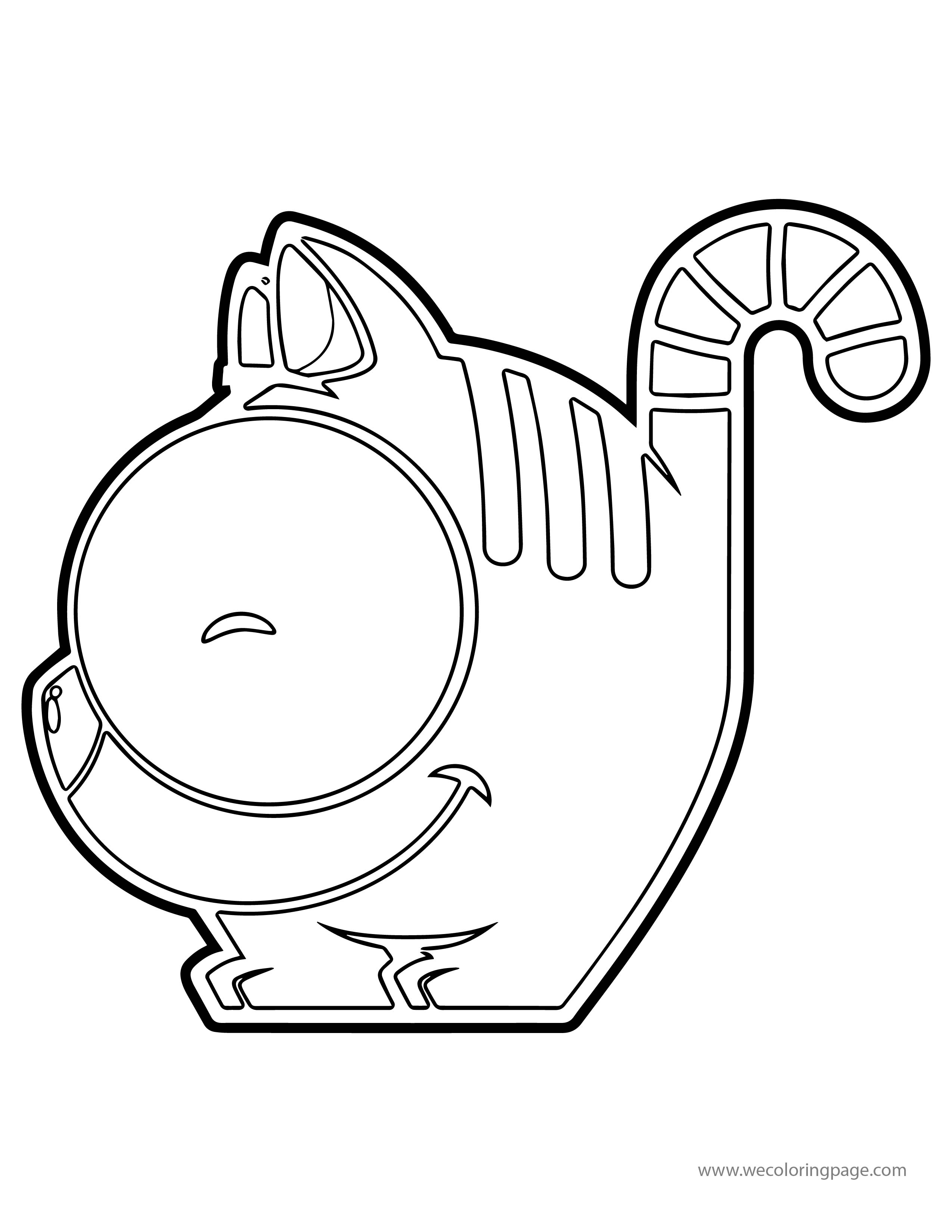 Cat Smile Coloring Page