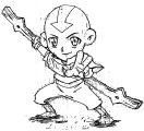 Chibi Aang Shadow Shasuka Avatar Aang Coloring Page