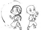 Chibi Valentine Aang And Katara Vasira Ducmlu Avatar Aang Coloring Page