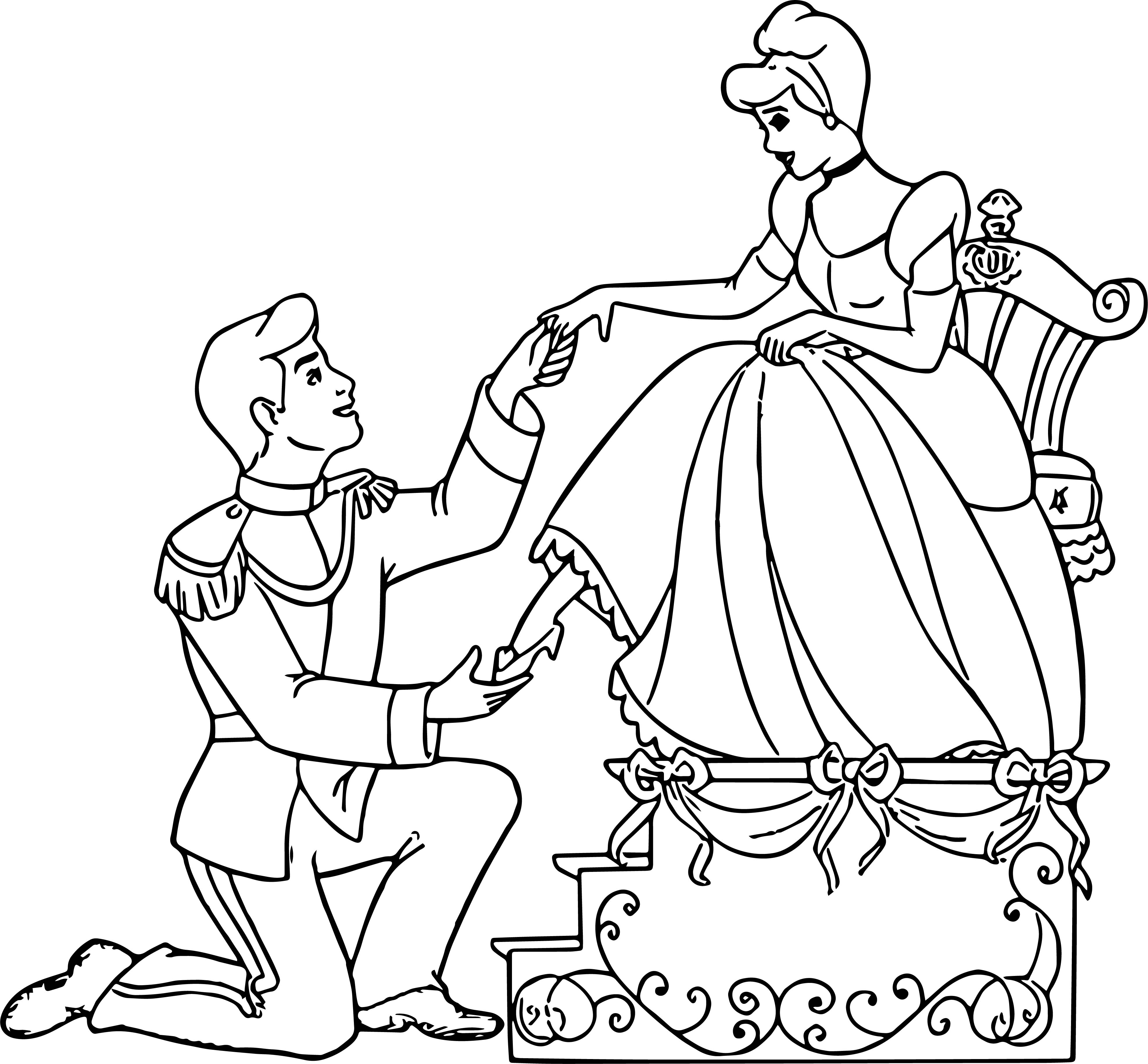 Cinderella And Prince Charming Coloring Pages 26 ...