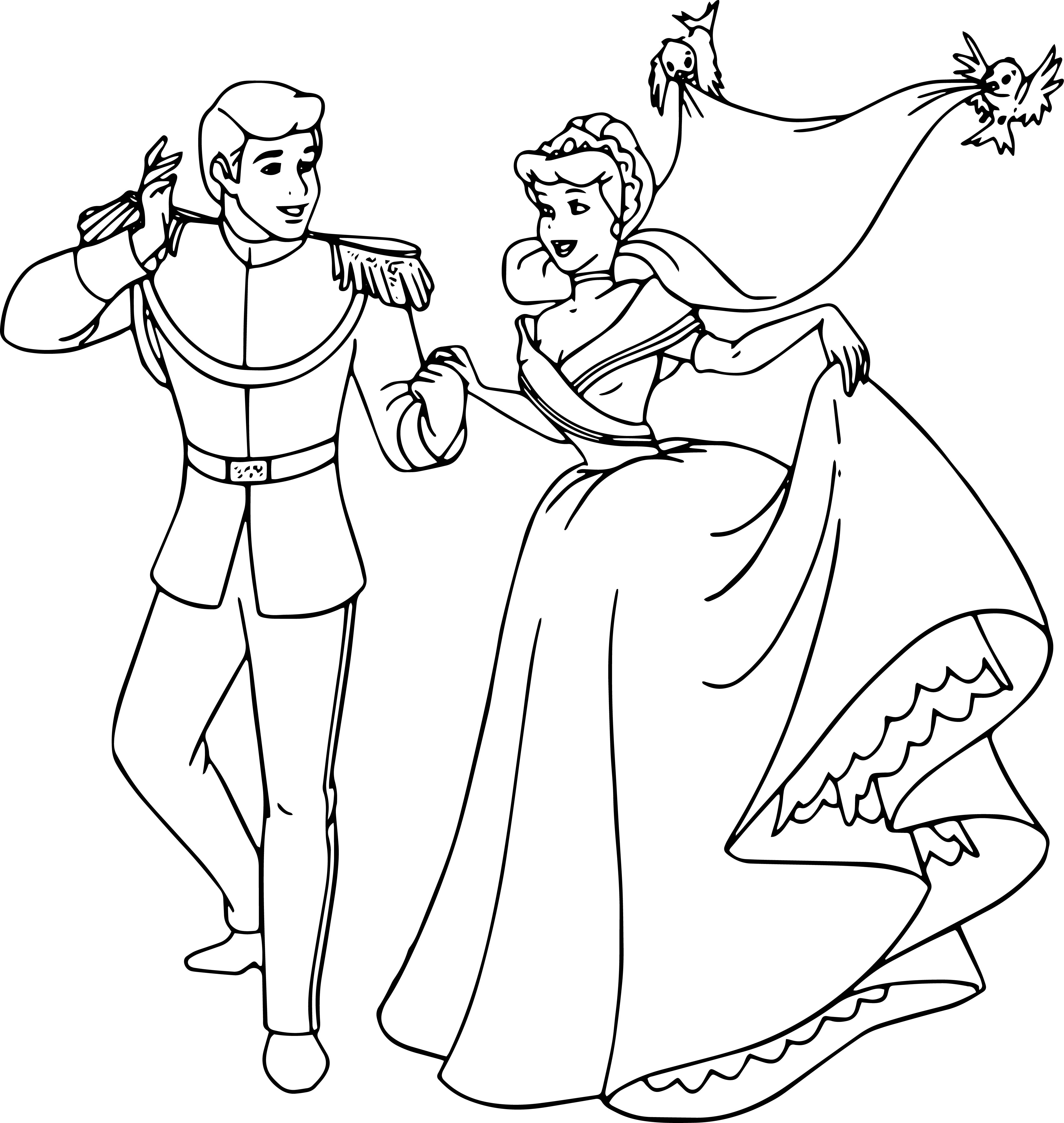 Cinderella And Prince Charming Coloring Pages 27 ...