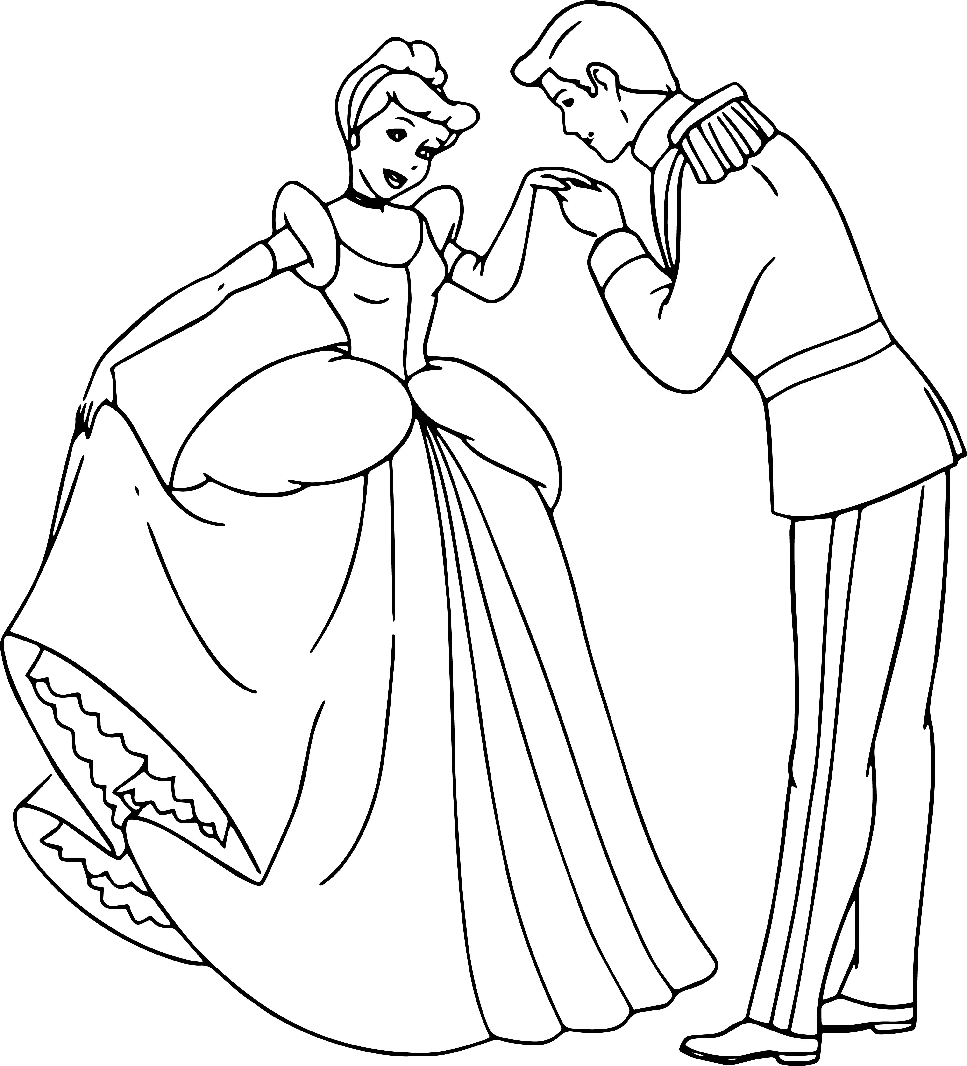 Cinderella And Prince Charming Coloring Pages 28 ...