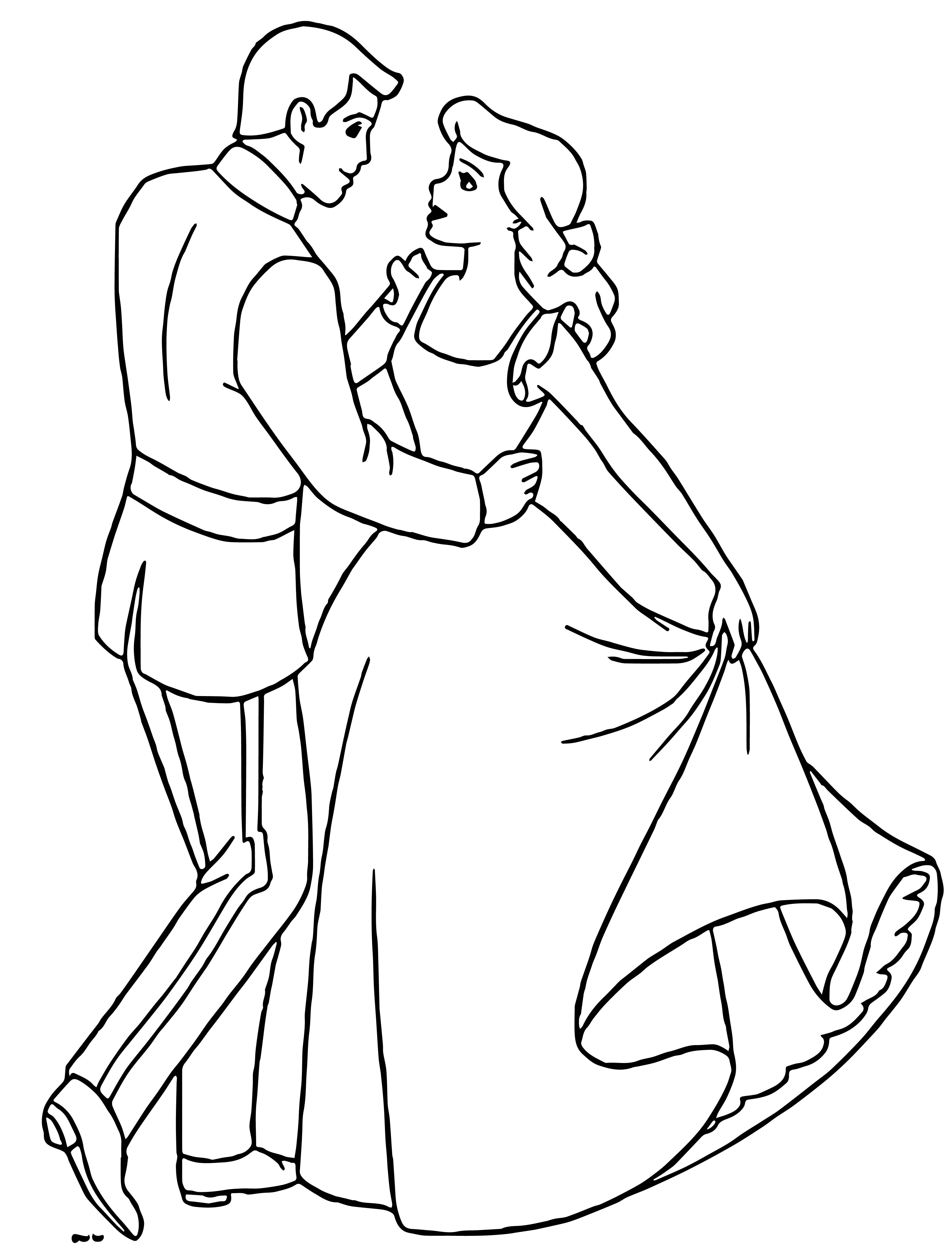 Cinderella And Prince Charming Coloring Pages 30
