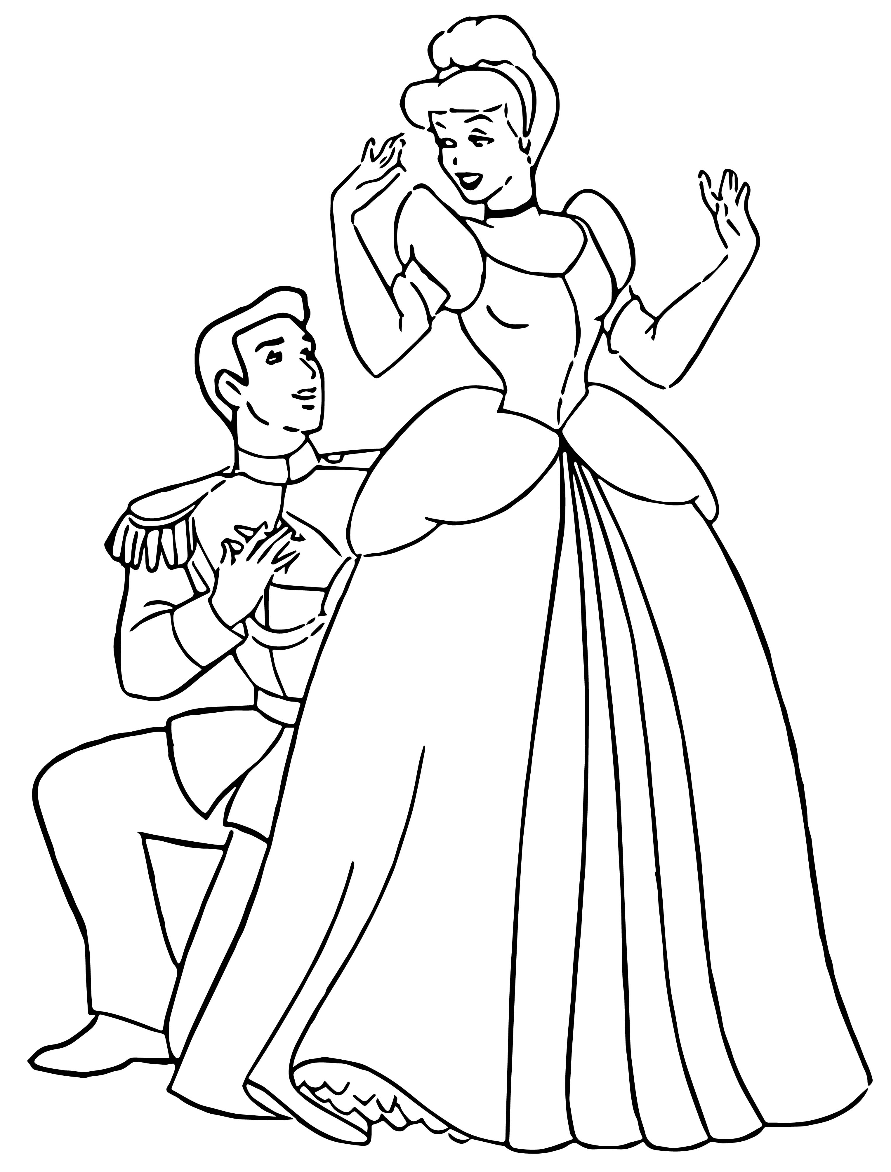 Cinderella And Prince Charming Coloring Pages 31 ...