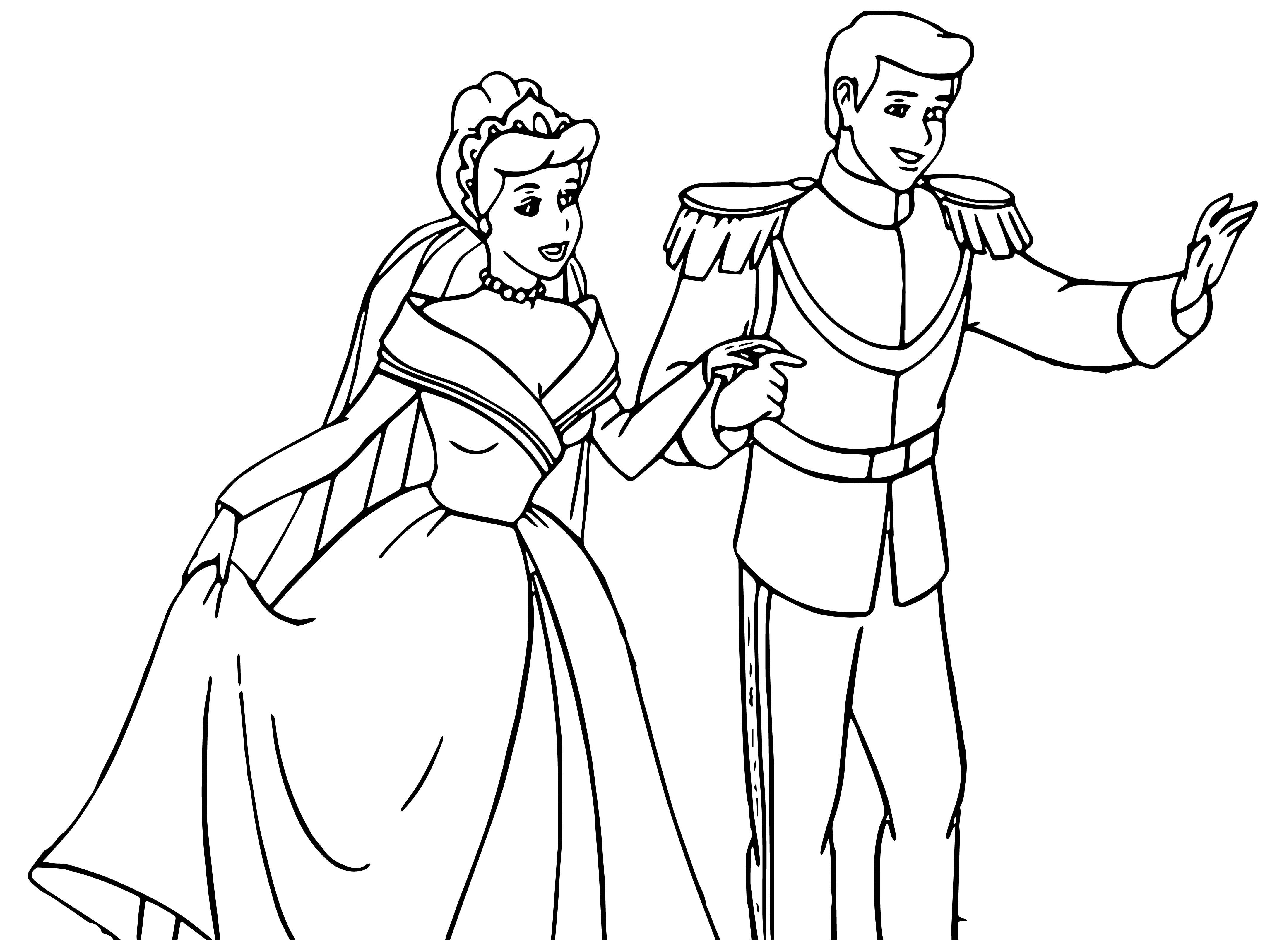 Cinderella And Prince Charming Coloring Pages 32 ...