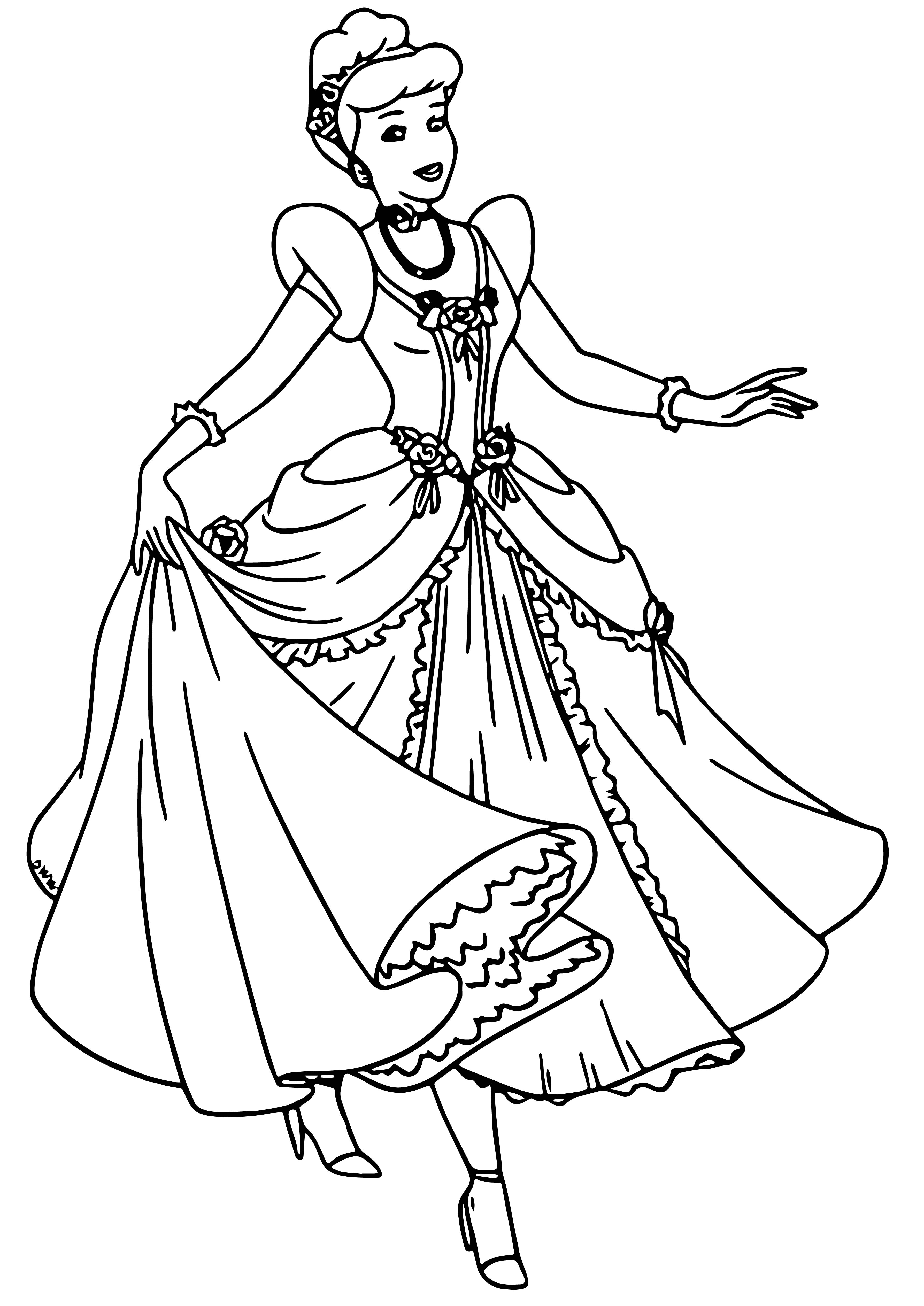 Cinderella Coloring Pages 048 Wecoloringpagecom Mice Pictures