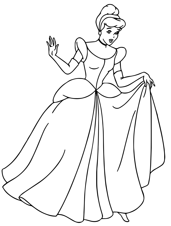 Cinderella Coloring Pages 062