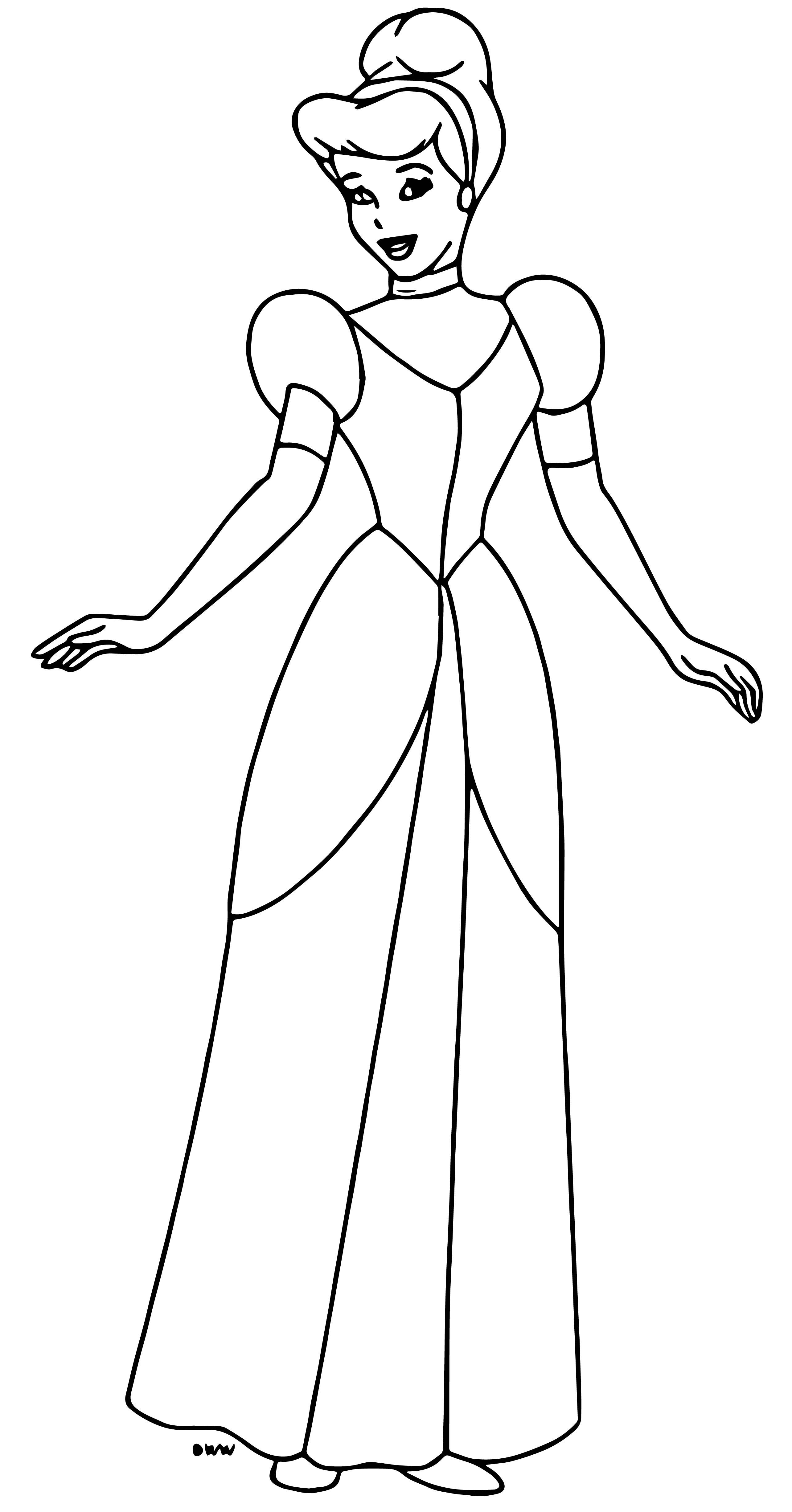 Cinderella Coloring Pages 067