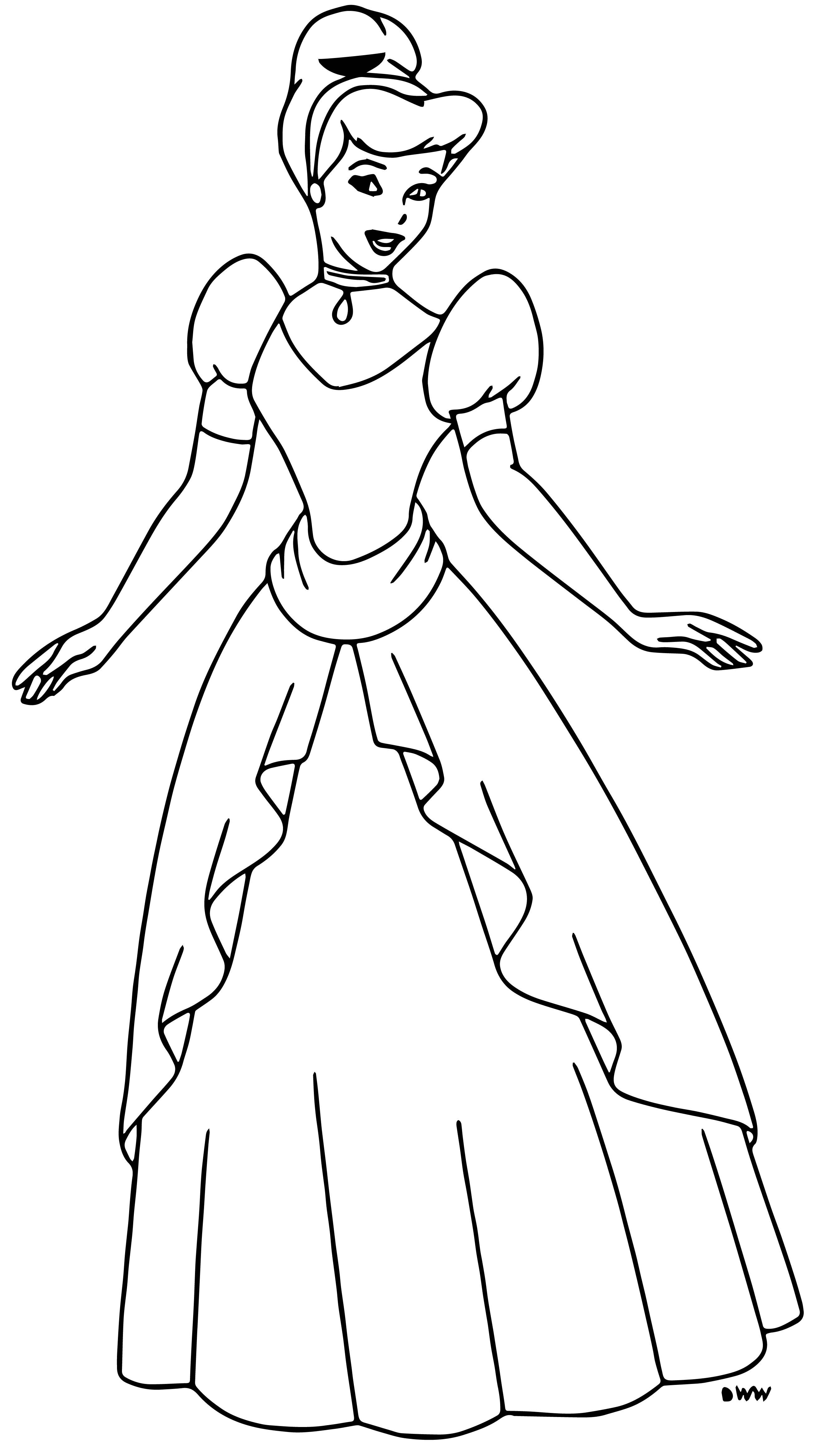 Cinderella Coloring Pages 068
