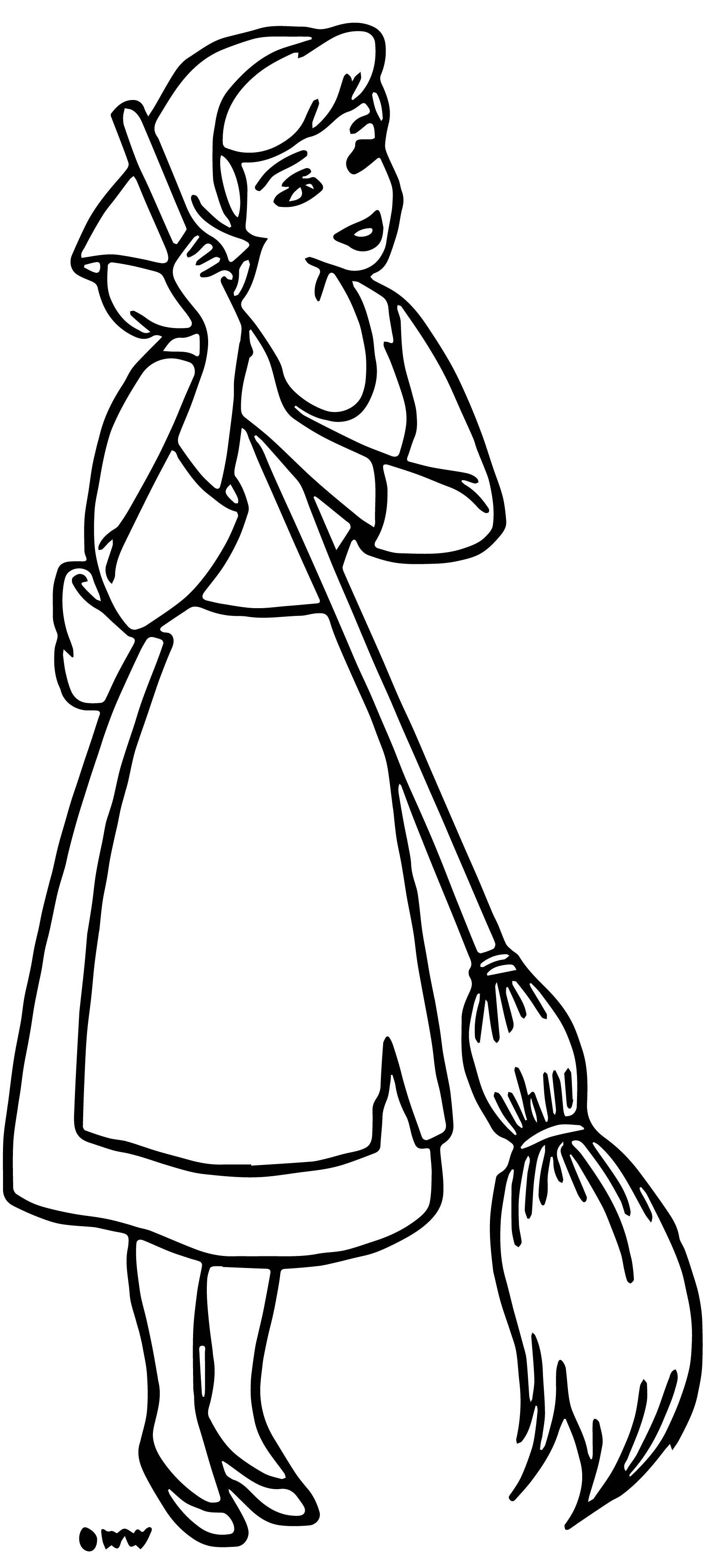 Cinderella Coloring Pages 10