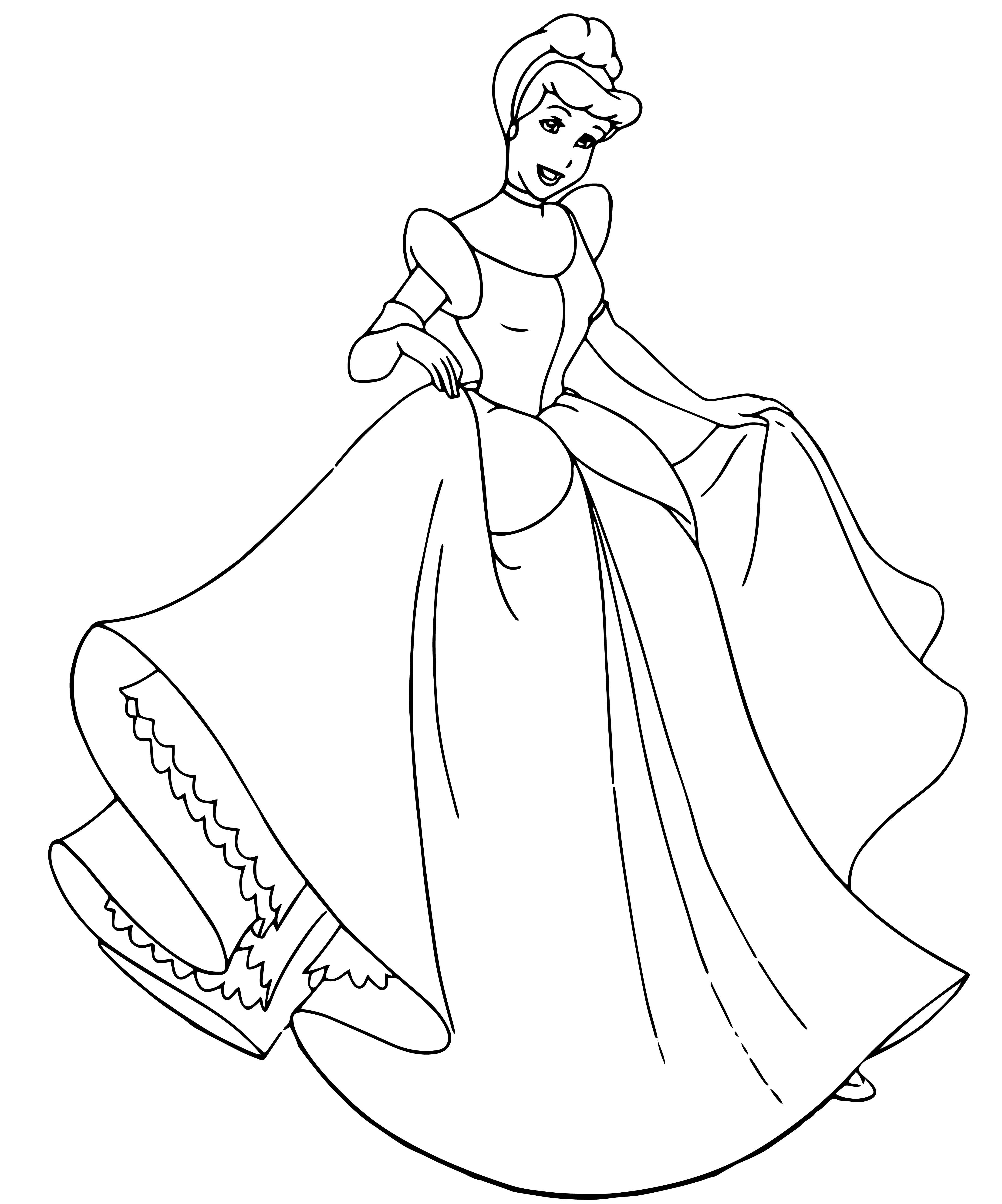 Cinderella Coloring Pages 107