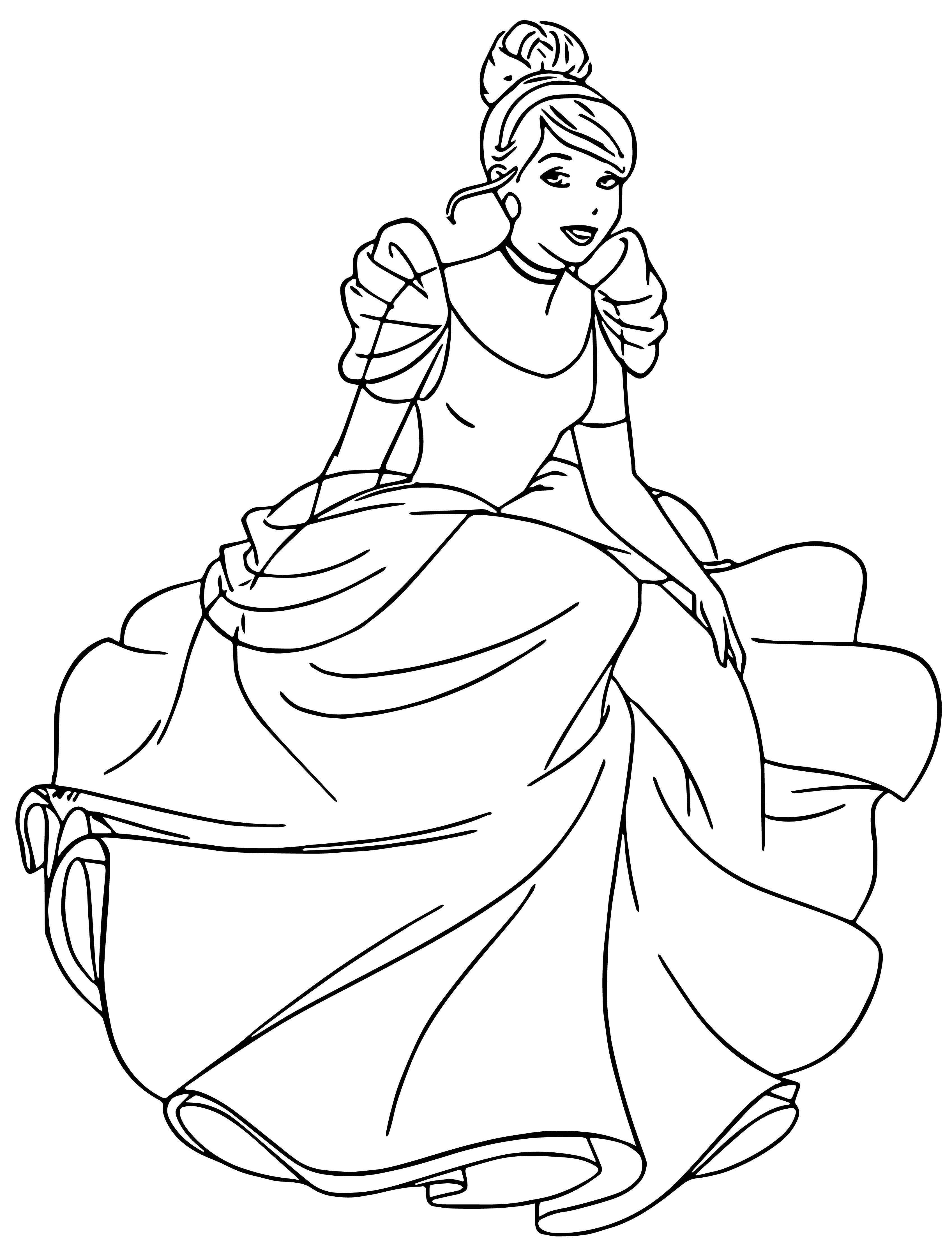 Cinderella Coloring Pages 133