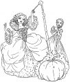 Cinderella Fairy God Mother Coloring Page
