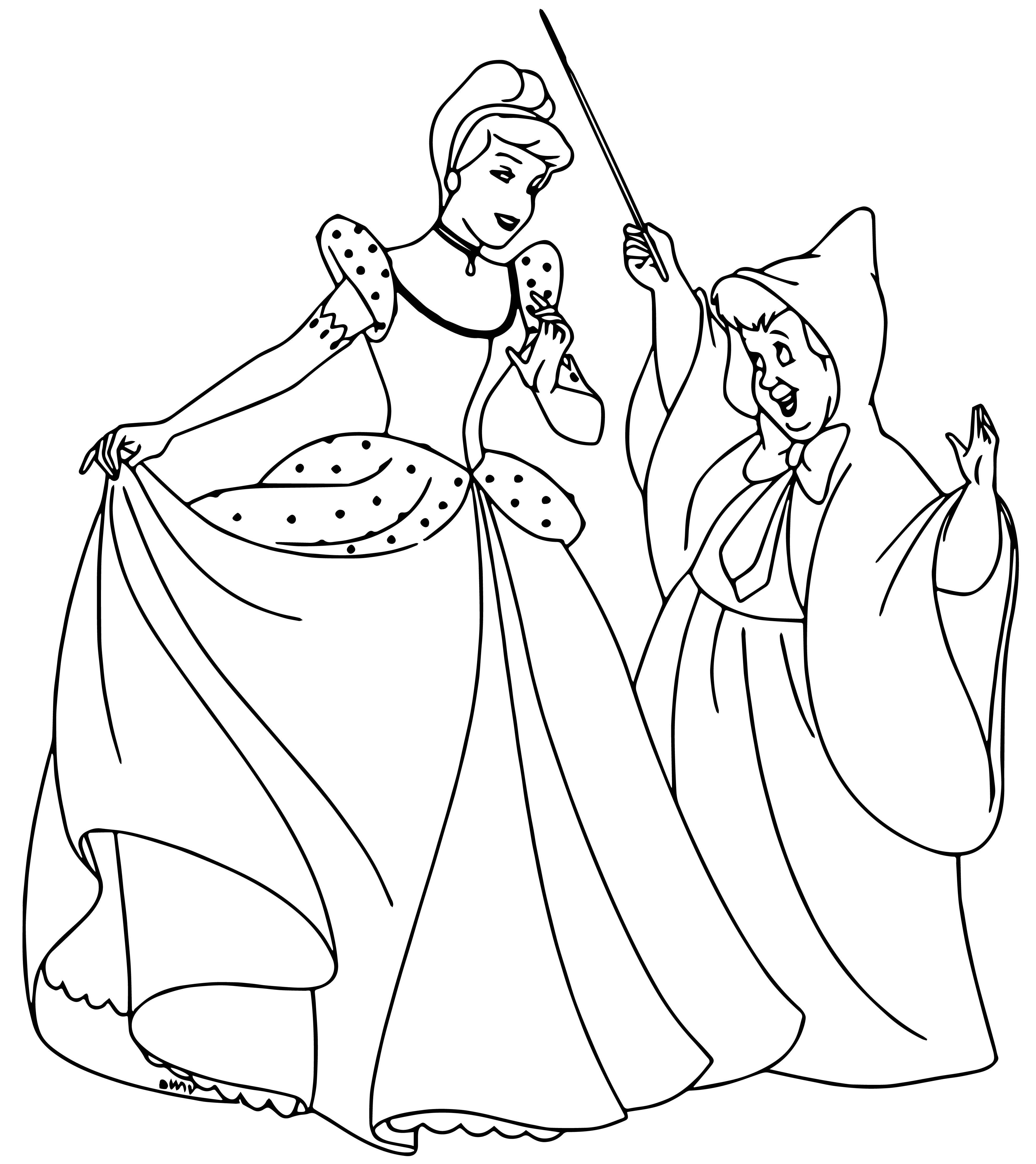 fairy godmother coloring pages | Cinderella Fairy Godmother Coloring Pages 03 ...