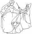 Cinderella Fairy Godmother Coloring Pages 05