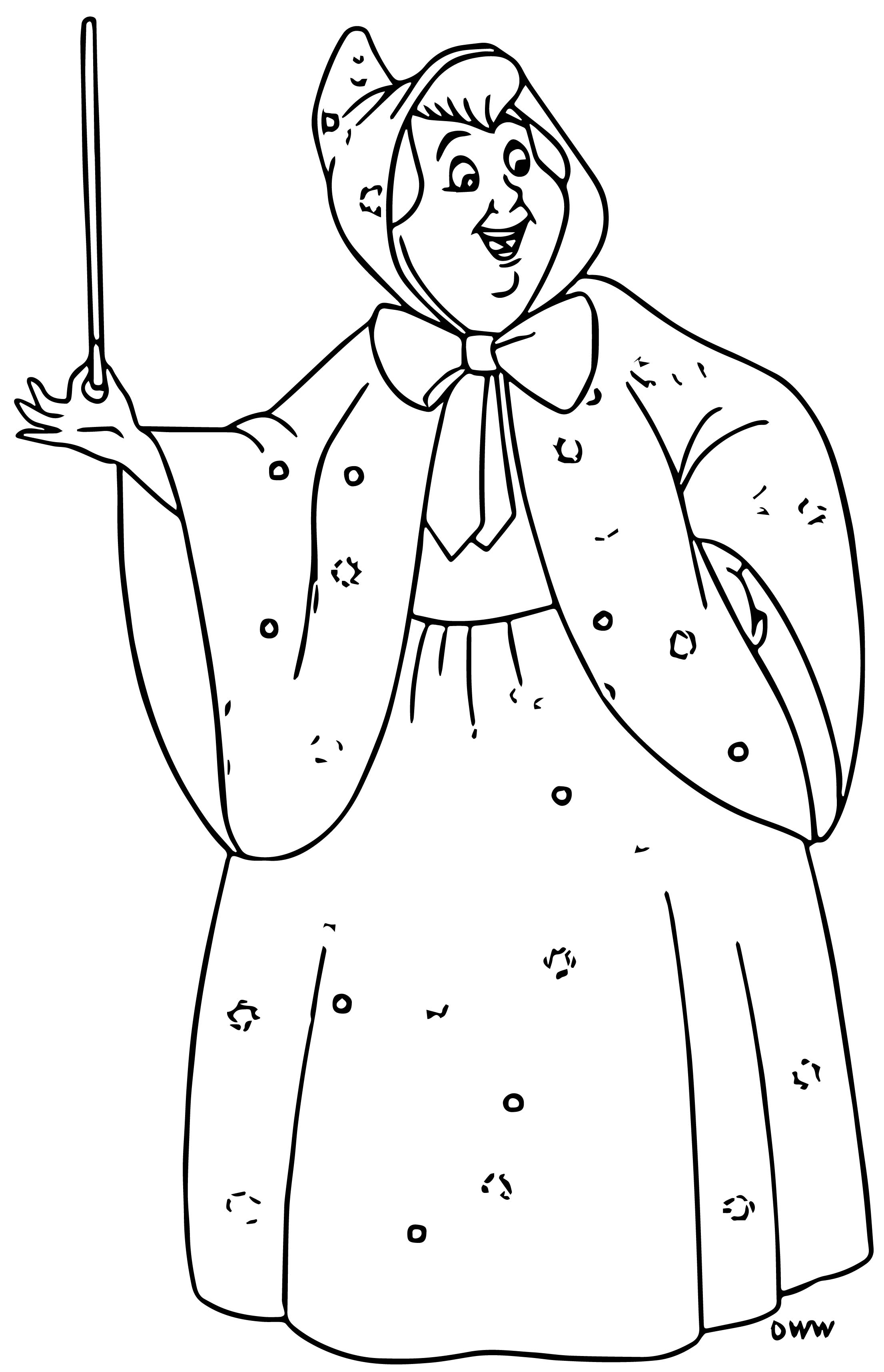 fairy godmother coloring pages | Cinderella Fairy Godmother Coloring Pages 12 ...