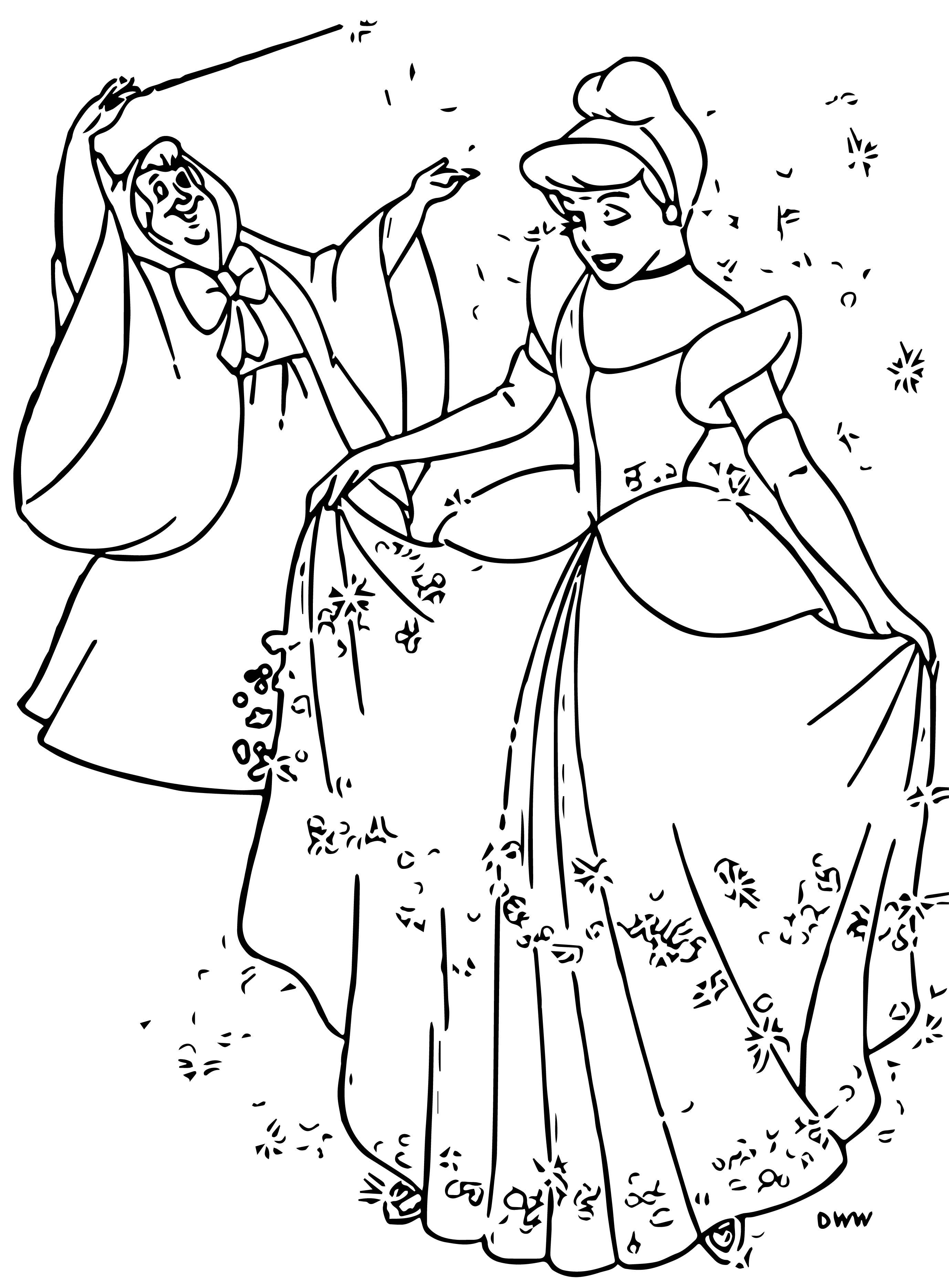 Cinderella fairy godmother coloring pages 18 for Cinderella fairy godmother coloring pages
