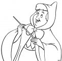 Cinderella Fairy Godmother Coloring Pages 24