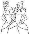 Cinderella Lady Tremaine Anastasia Drizella And Lucifer Coloring Pages 04