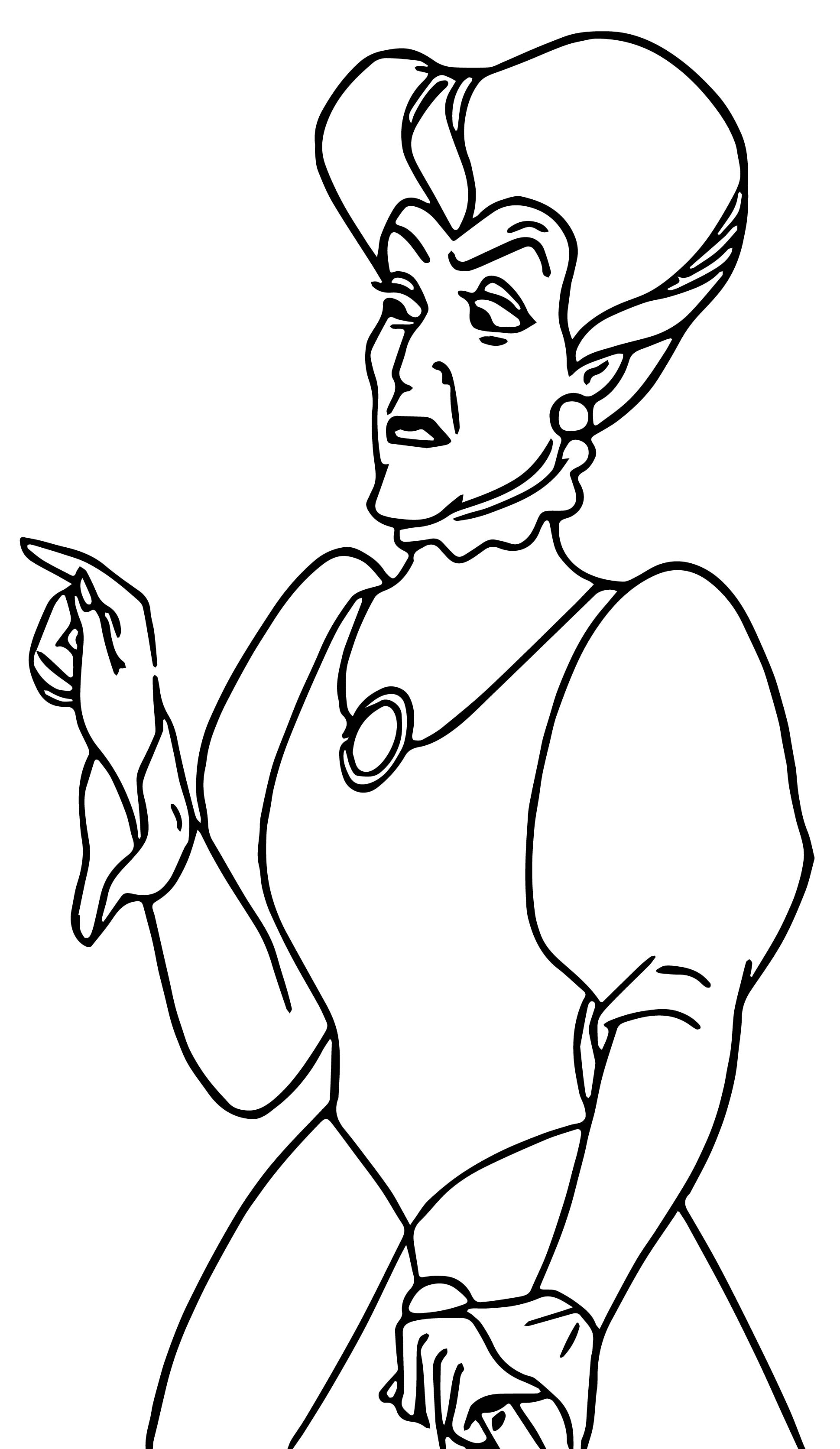 Cinderella Lady Tremaine Anastasia Drizella And Lucifer Coloring Pages 18