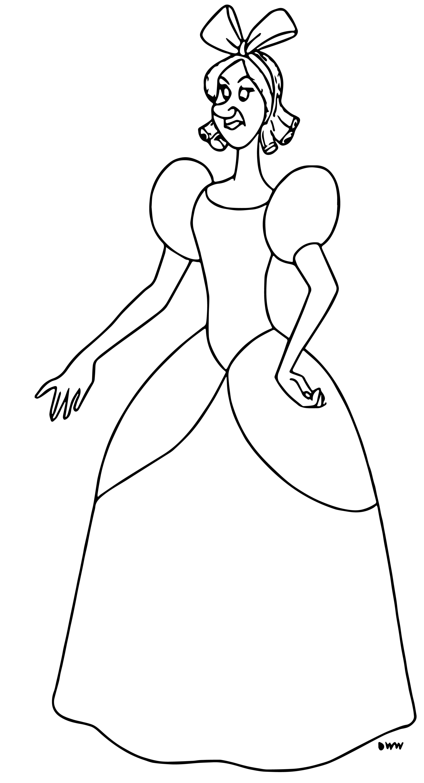 Cinderella Lady Tremaine Anastasia Drizella And Lucifer