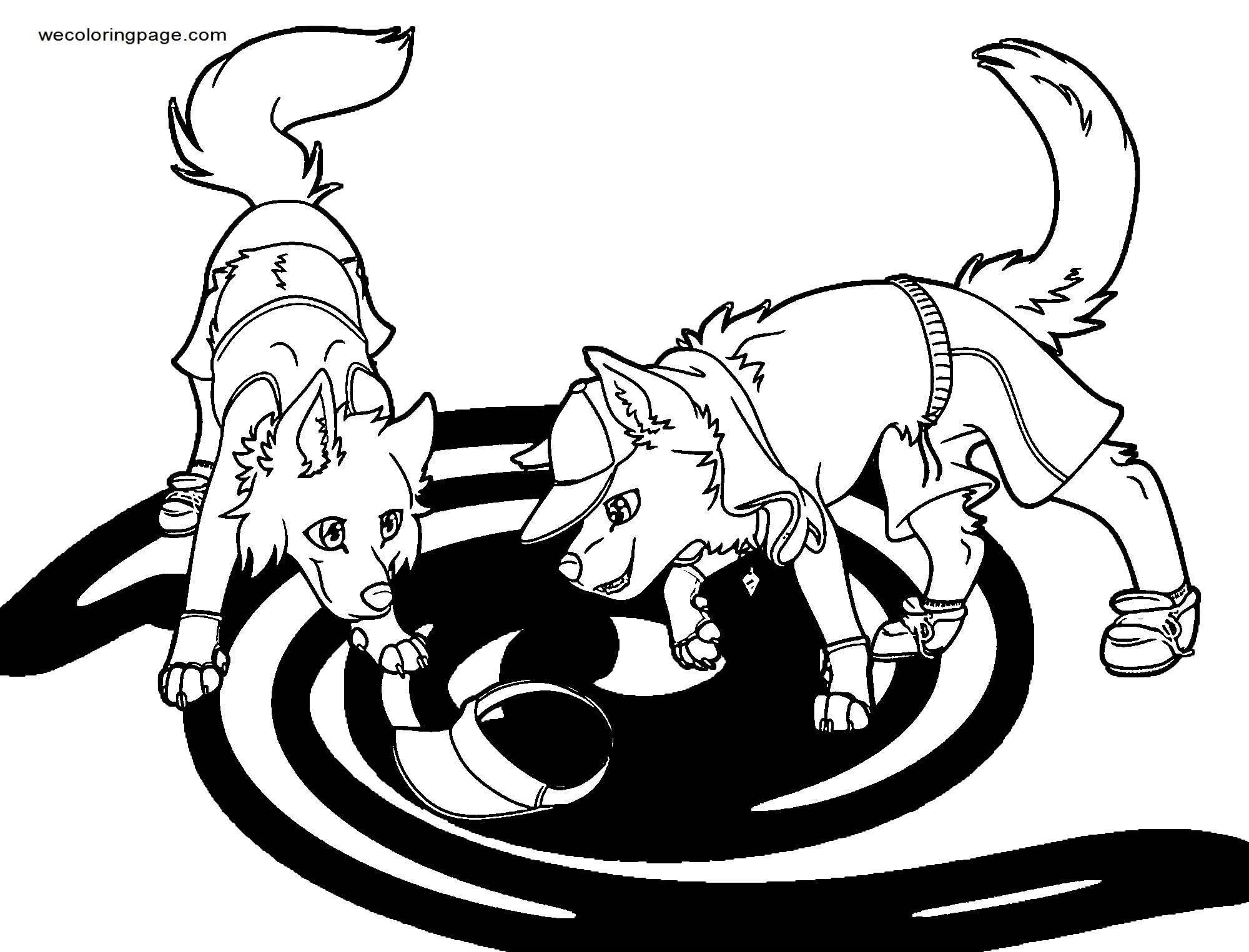 Cute Paw Patrol Dogs Coloring Page Wecoloringpage Com