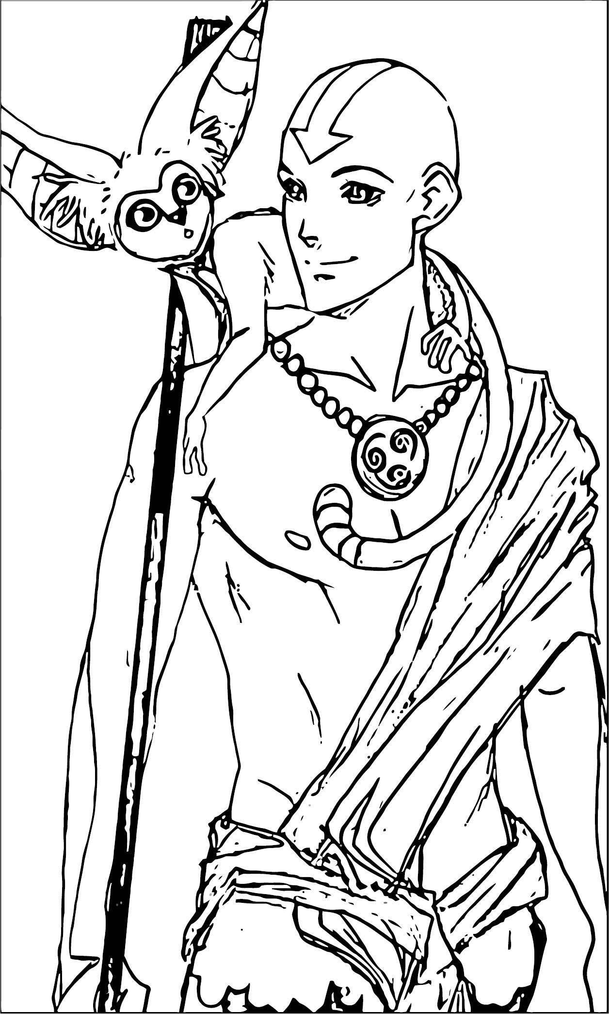 Dececbbcecfecbd Avatar Aang Coloring Page